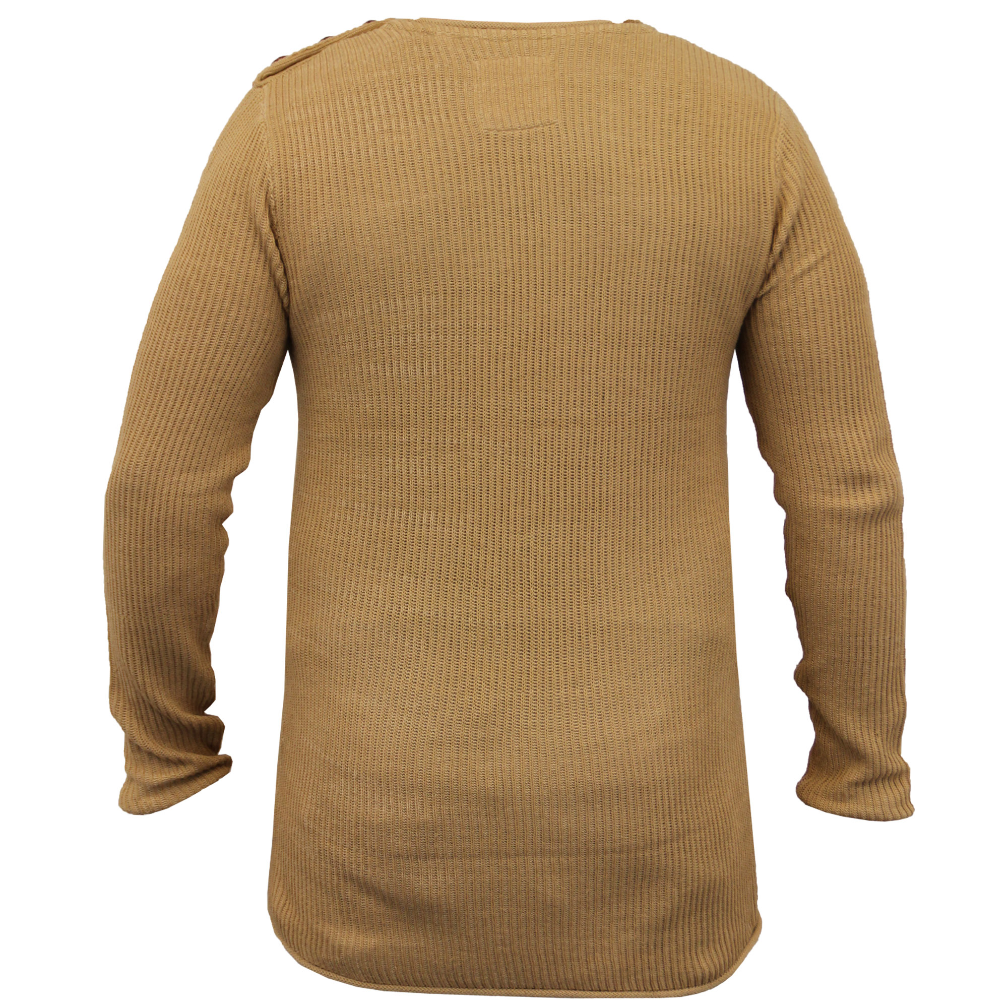 Mens-Long-Line-Jumper-Soul-Star-Sweater-High-Low-Hem-Top-Knitted-Pullover-Winter thumbnail 3