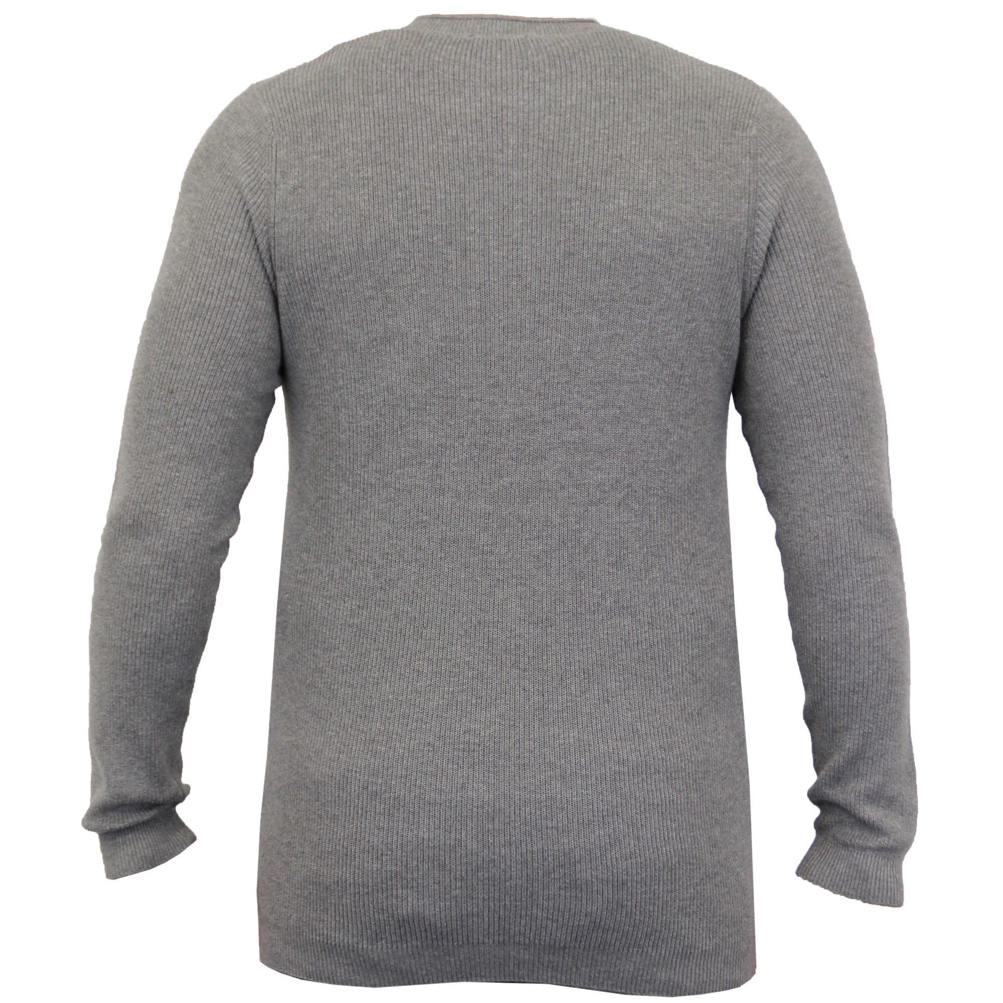 Mens-Grandad-Jumpers-Dissident-Knitted-Ribbed-Top-Lightweight-Casual-Winter-New thumbnail 4