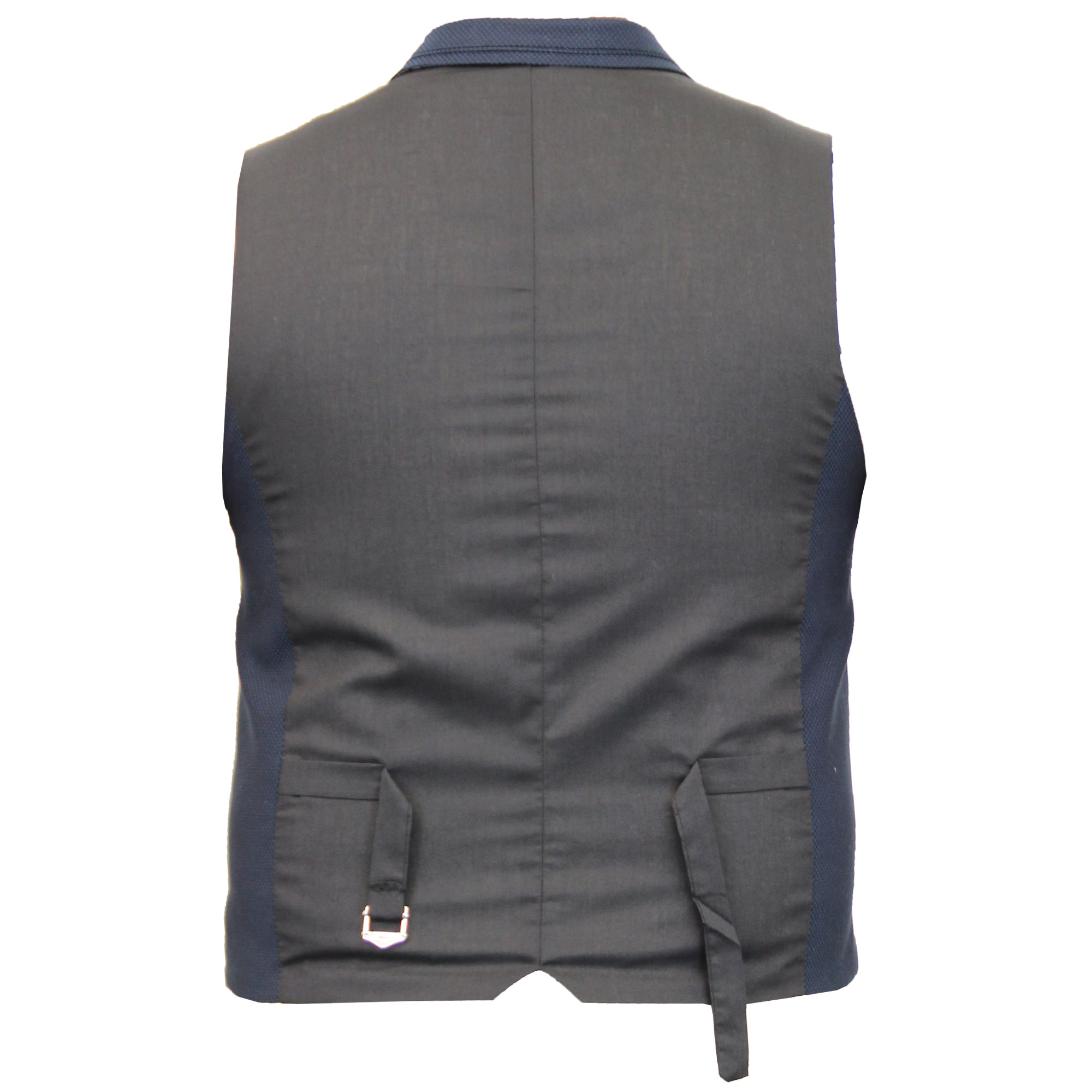 Mens-Wool-Mix-Herringbone-Tweed-Formal-Vest-Check-Waistcoat-By-Cavani-Crespo thumbnail 9