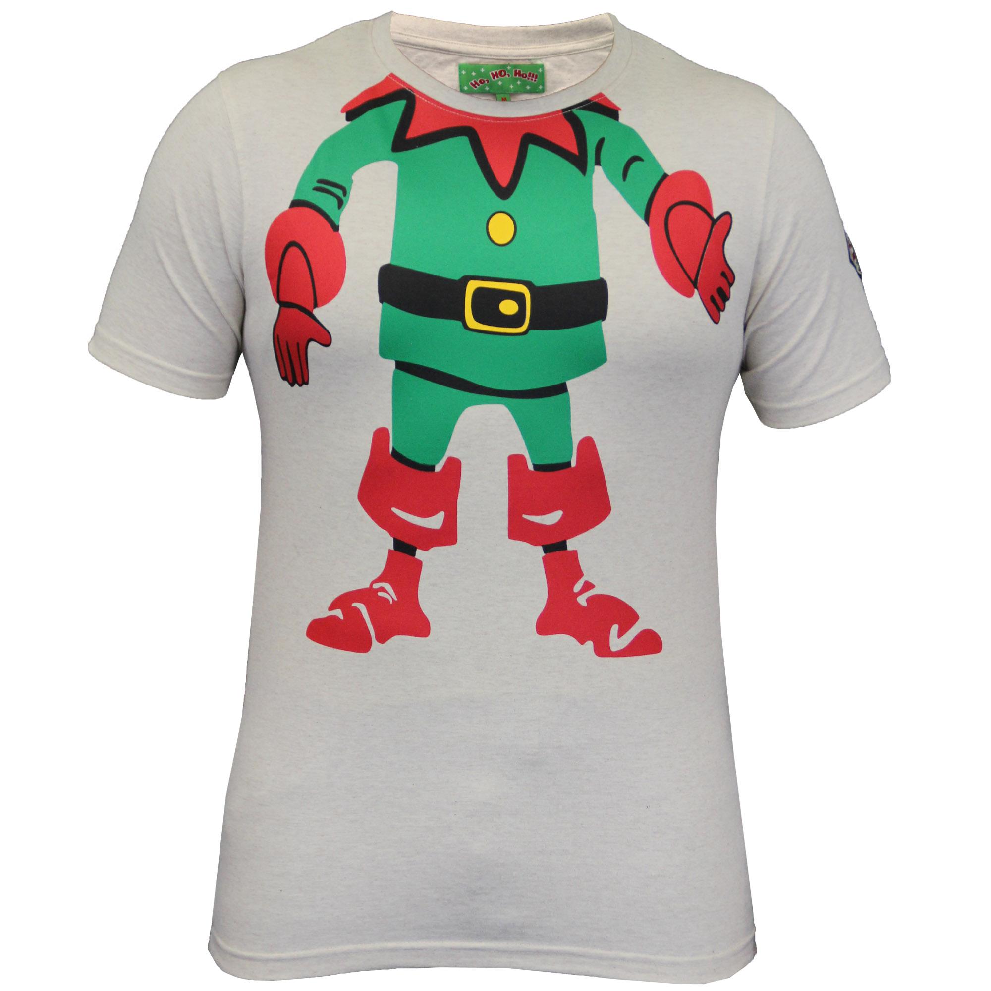 0ab6faa6 Mens Christmas T Shirt Ho Ho Ho Xmas Emoji Santa Claus Elf Reindeer ...