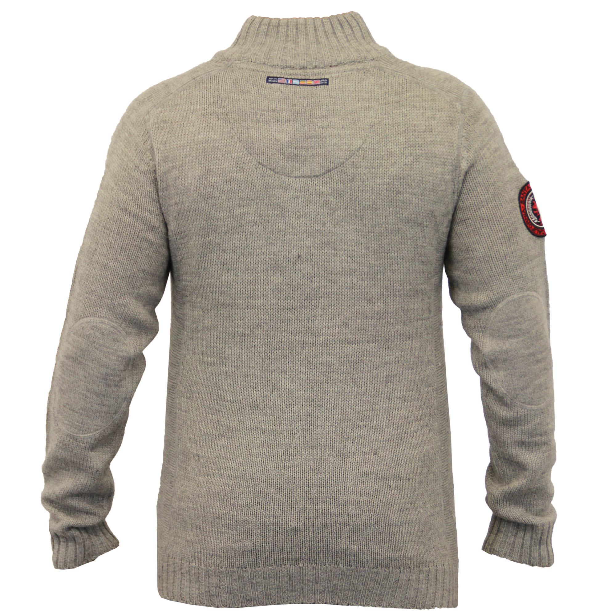 Mens-Wool-Mix-Jumpers-Santa-Monica-Cable-Knitted-Jacquard-Sweater-Pullover-New thumbnail 8