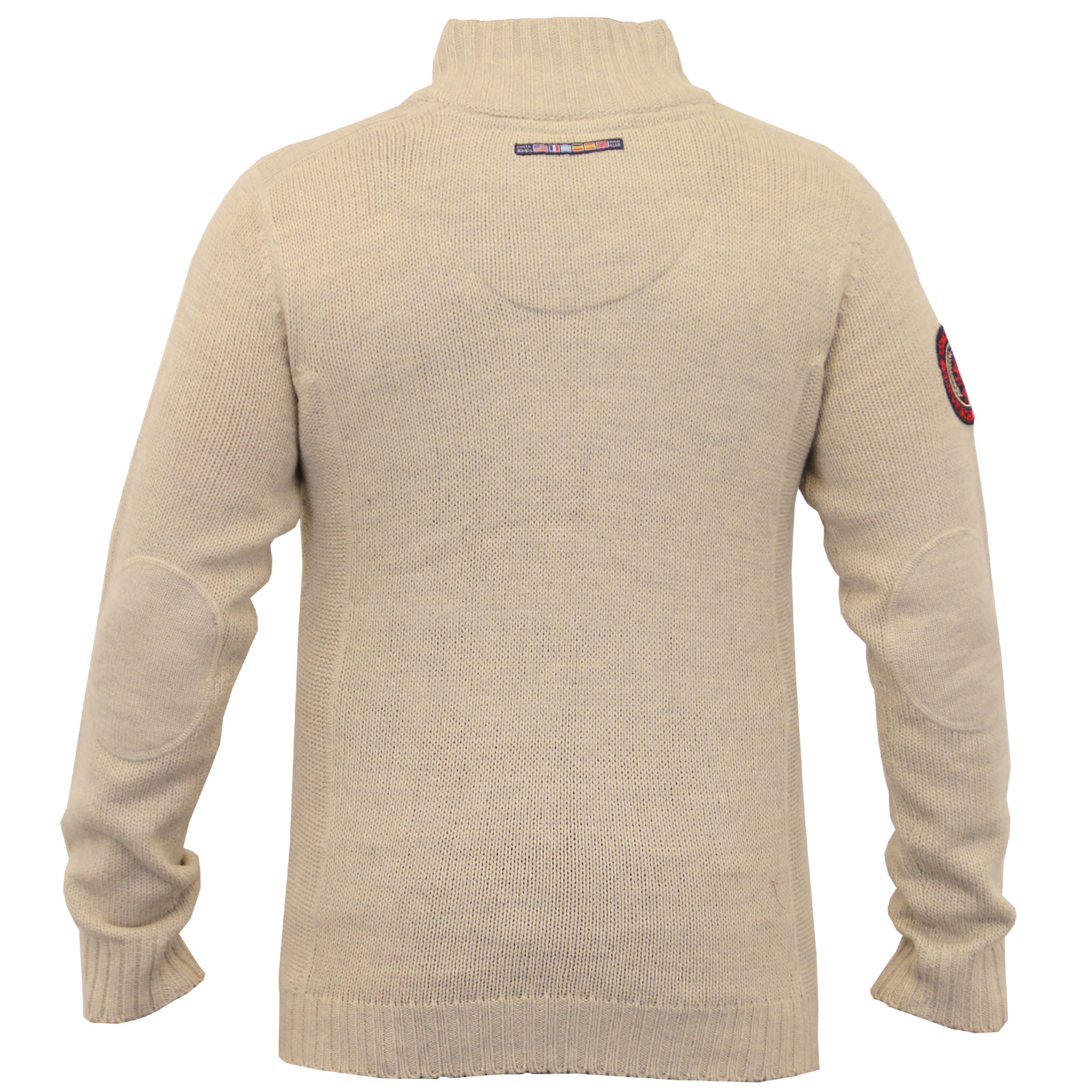 Mens-Wool-Mix-Jumpers-Santa-Monica-Cable-Knitted-Jacquard-Sweater-Pullover-New thumbnail 11
