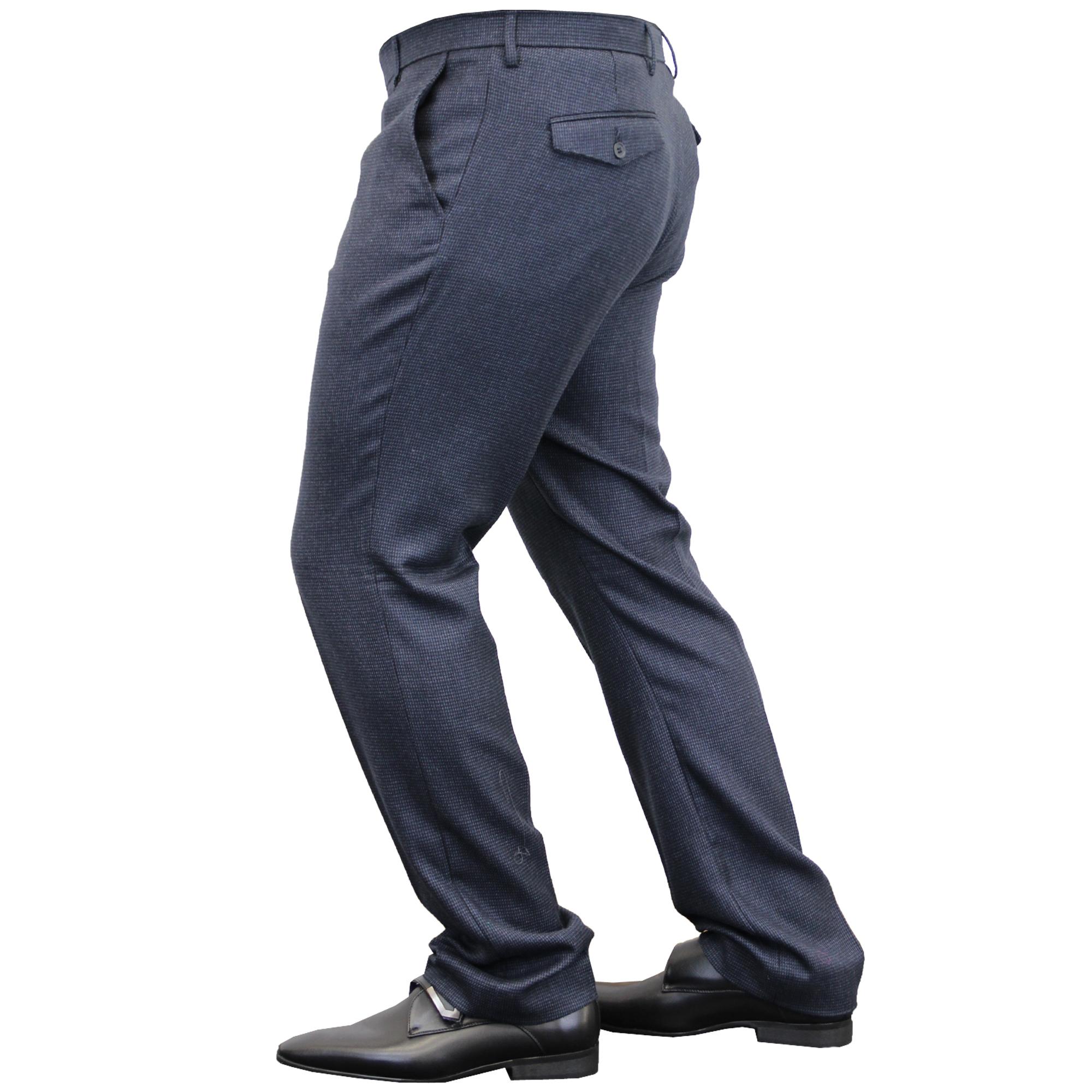 Mens-Trouser-Cavani-Pants-Formal-Wedding-Office-Work-Smart-Fashion-Casual-New thumbnail 4