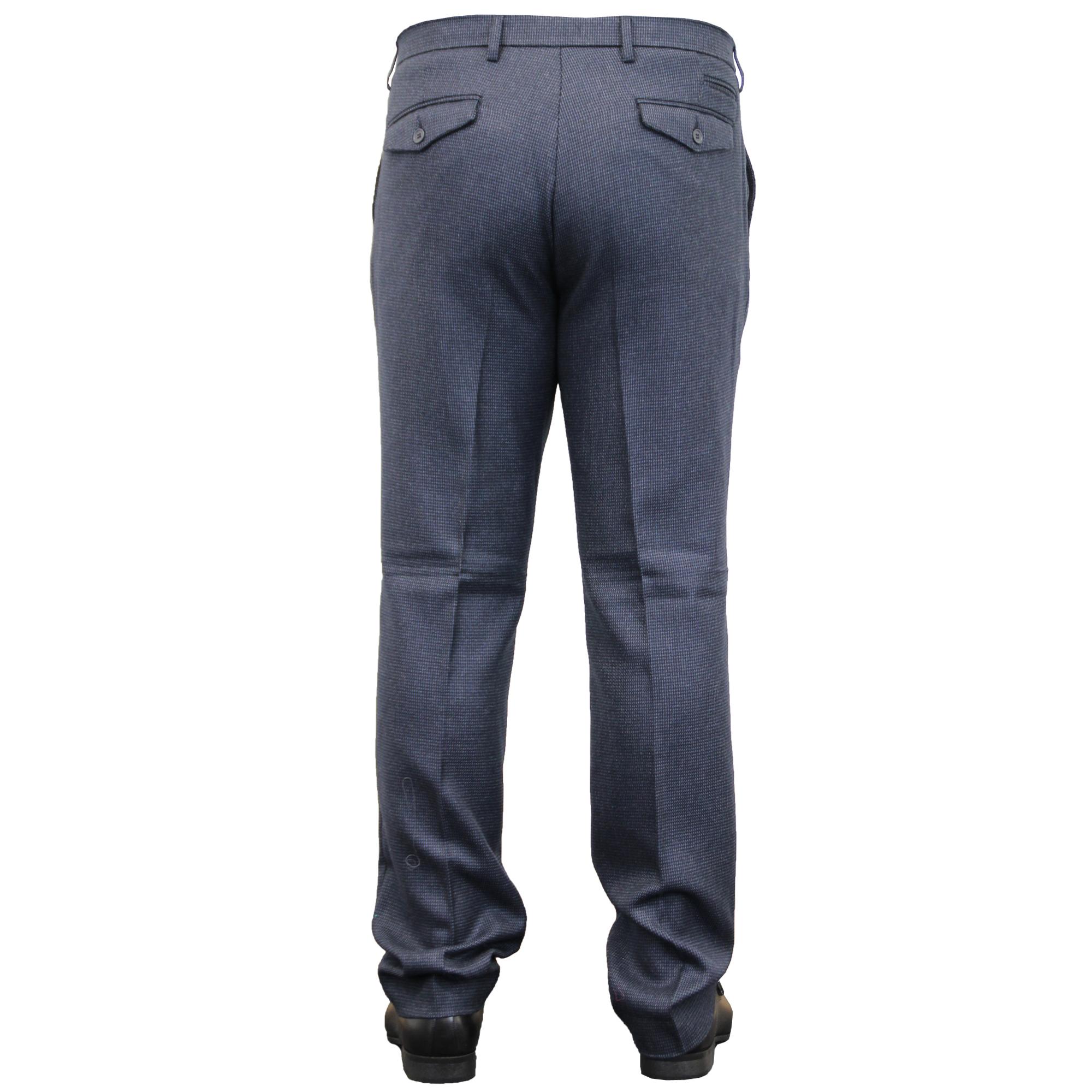 Mens-Trouser-Cavani-Pants-Formal-Wedding-Office-Work-Smart-Fashion-Casual-New thumbnail 5
