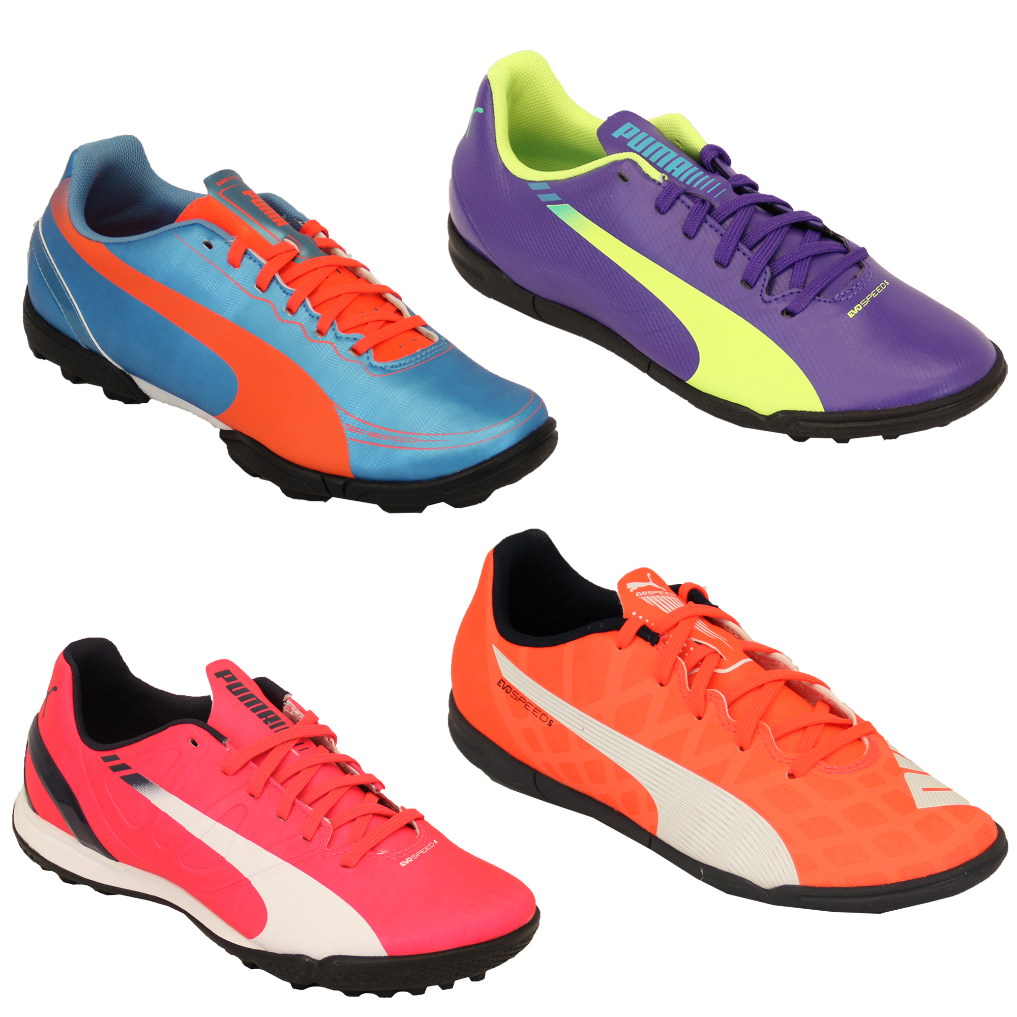 5364bcd33d0 Girls Boys Football Trainers Puma Kids EvoSpeed Boots Astro Turf ...