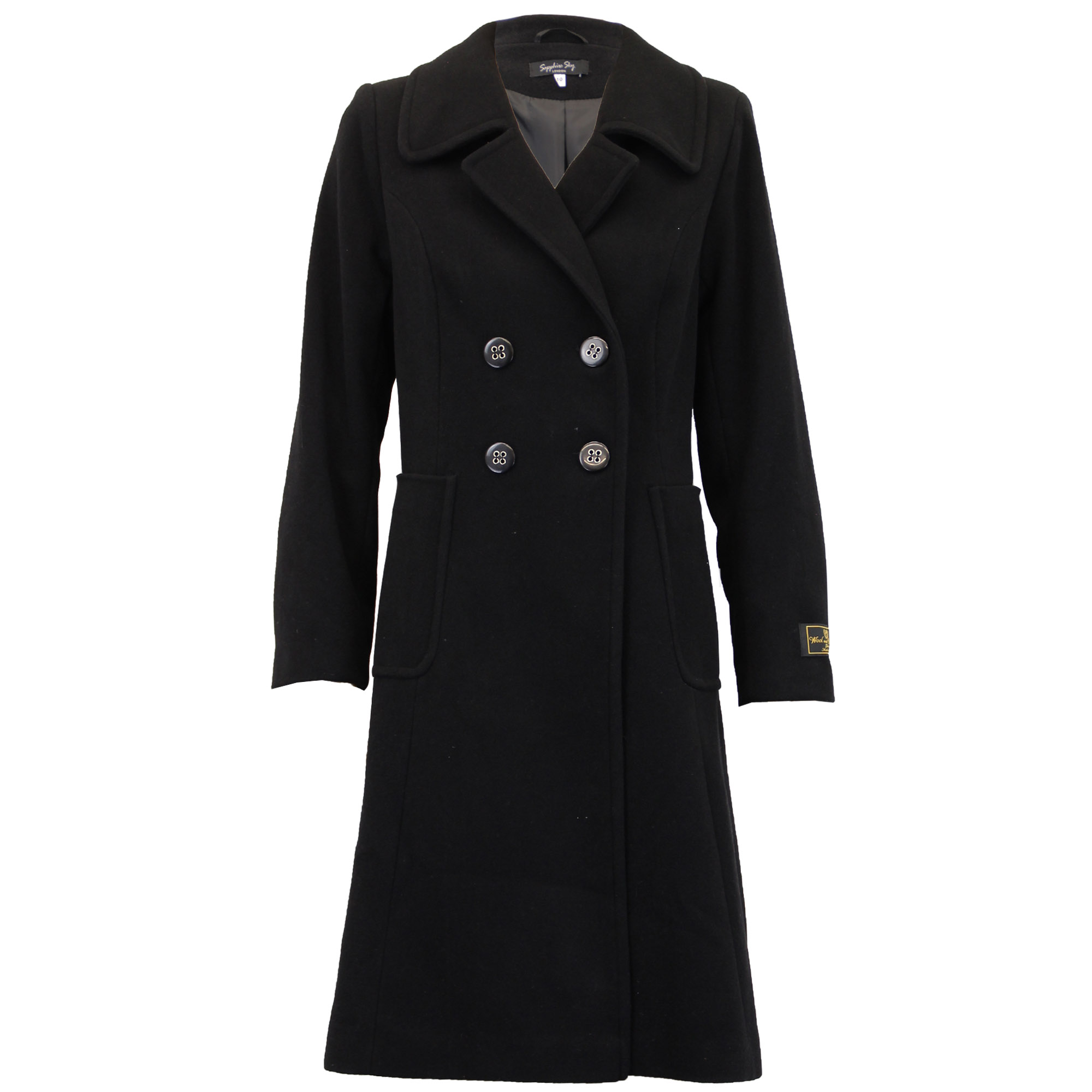 Ladies-Wool-Cashmere-Coat-Womens-Jacket-Double-Breasted-Outerwear-Trench-Winter