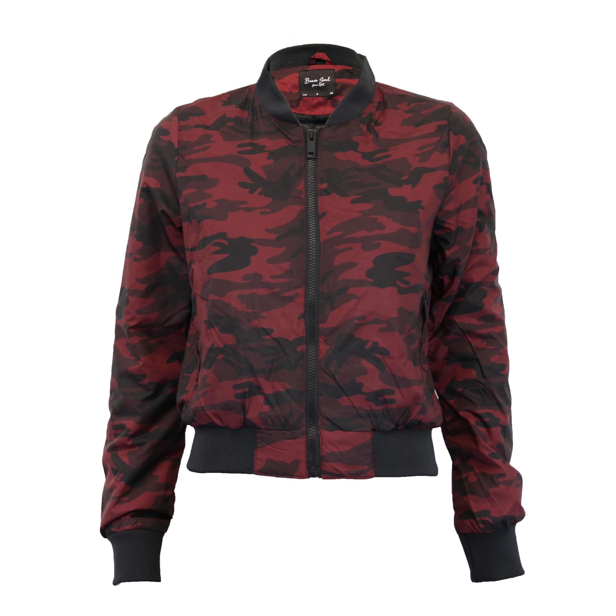 ladies camo jackets brave soul womens coat military ma1 padded harrington bomber ebay. Black Bedroom Furniture Sets. Home Design Ideas