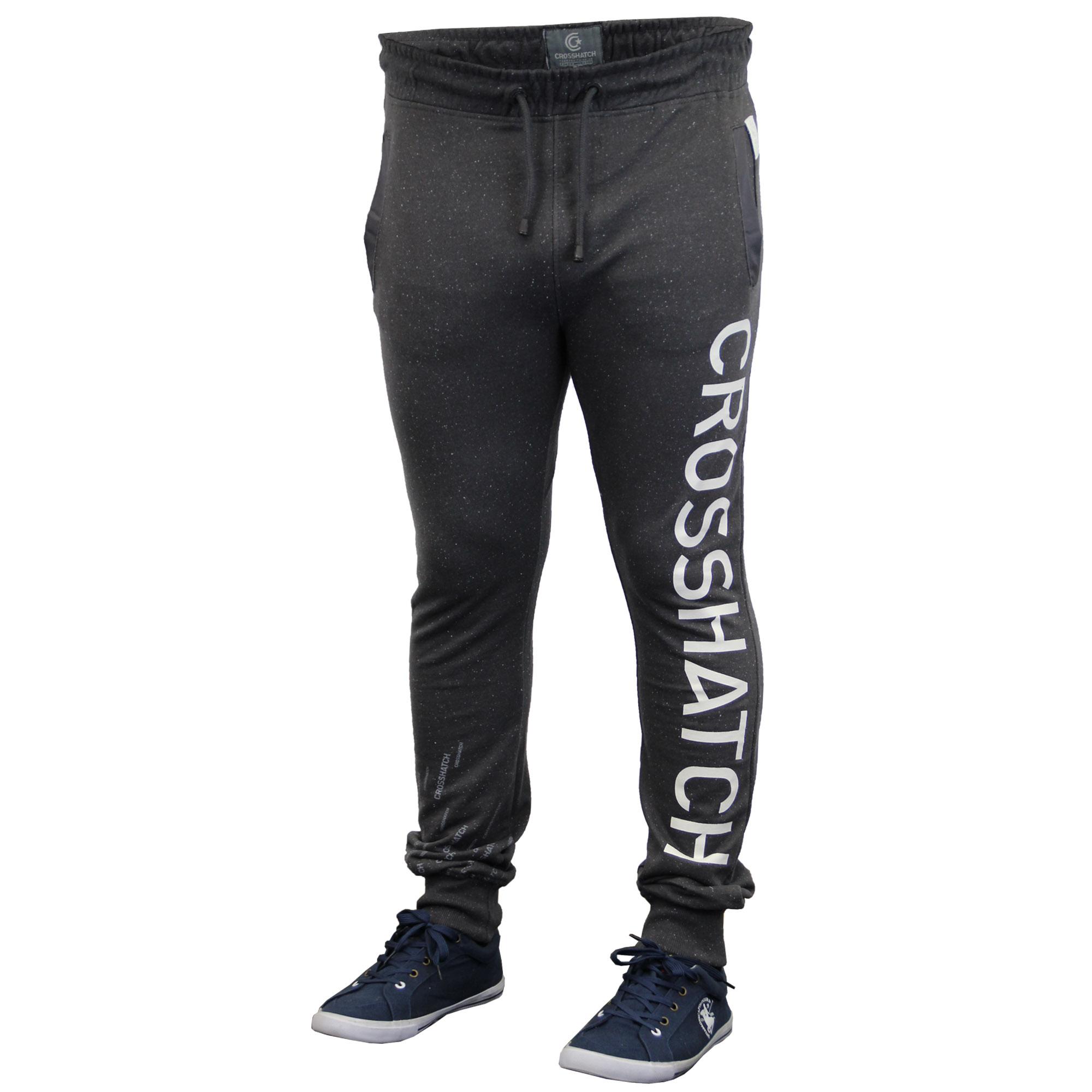 aae750d5e01f Mens Bottoms Crosshatch Jogging Pants Trousers Marl Cuffed Running ...
