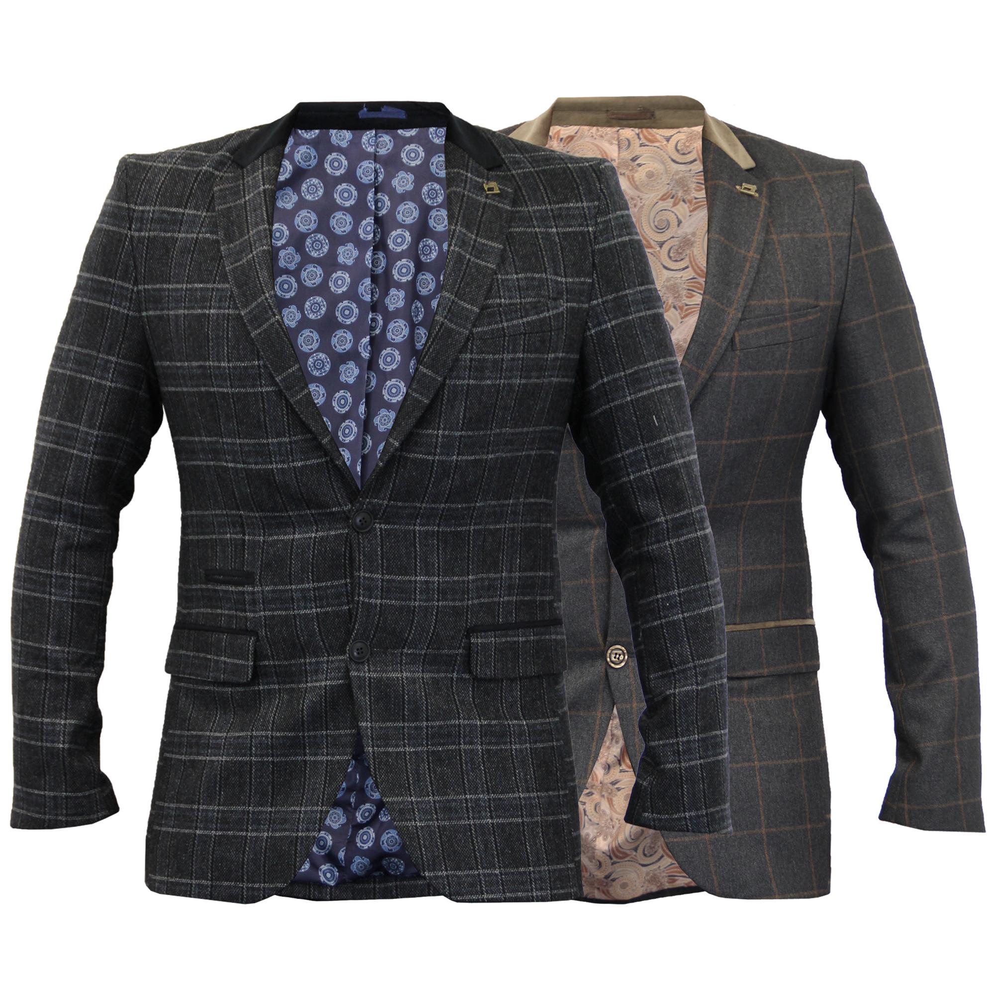 herren kariert blazer fischgr tenmuster tweed jacke mantel. Black Bedroom Furniture Sets. Home Design Ideas