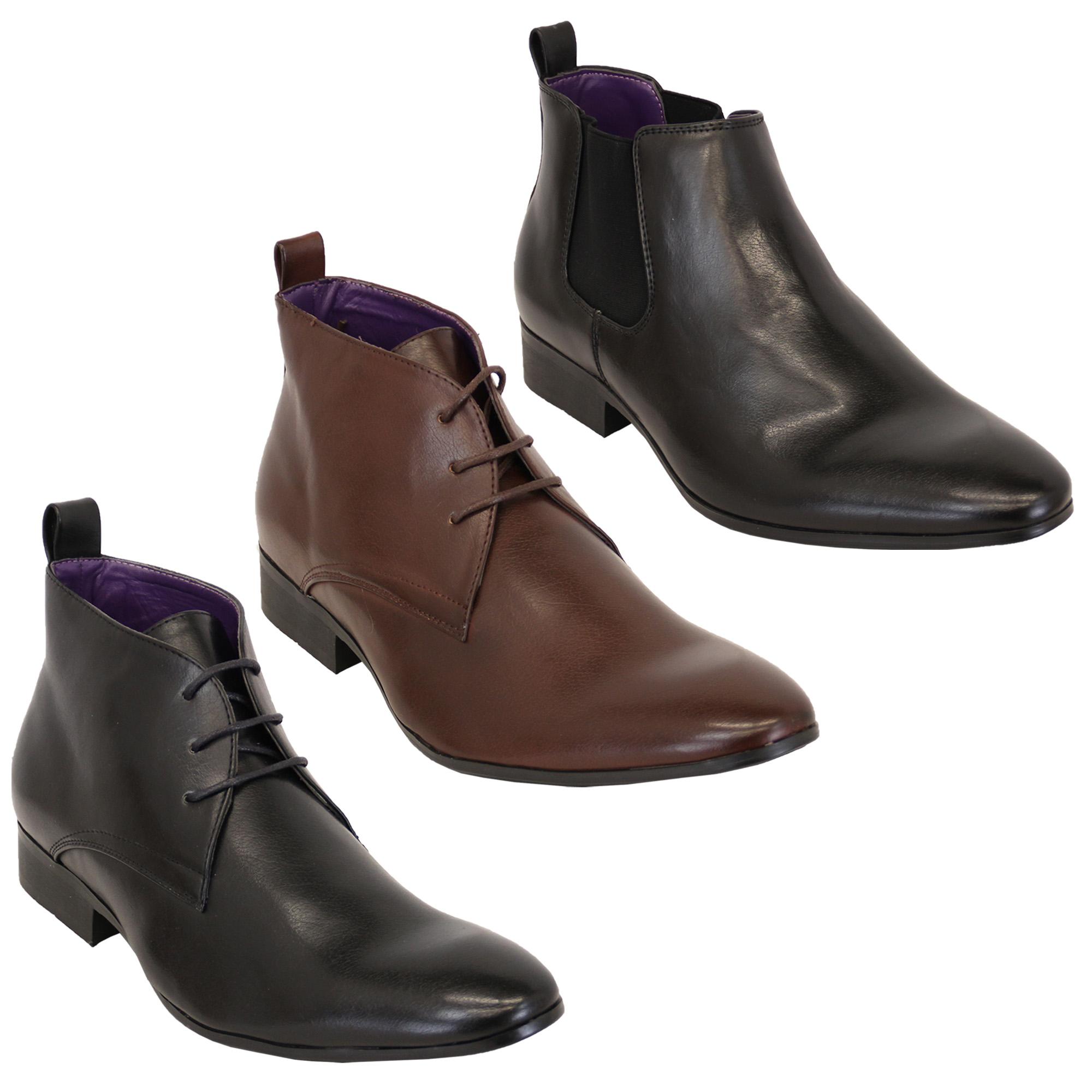 e76223dc528 Hombre Alto Botines Piel Sintética Chelsea sin Cordones Zapatos de ...