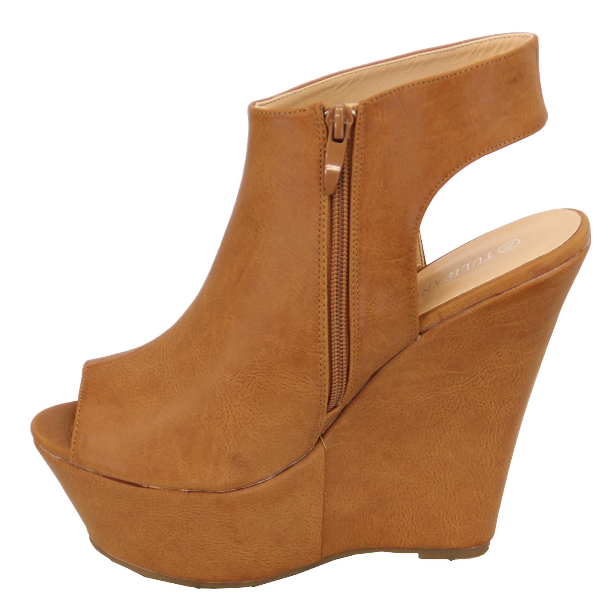 Summer Wedges Sandals For Woman High Heels Platforms Cut