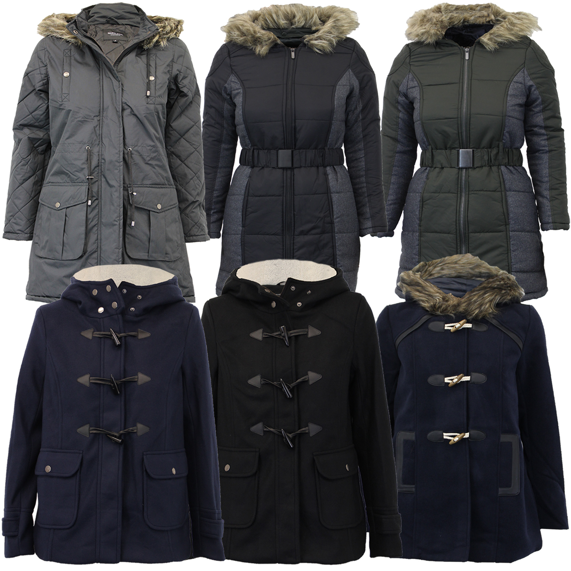 new ladies parka jacket Brave Soul womens coat fish tail padded ...