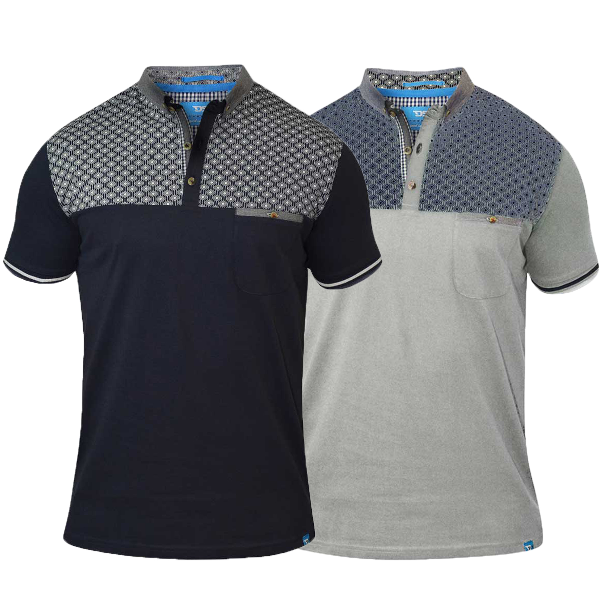 Mens-Polo-T-Shirt-D555-Duke-Short-Sleeved-Chambray-Collared-Big-King-Size-Summer thumbnail 3