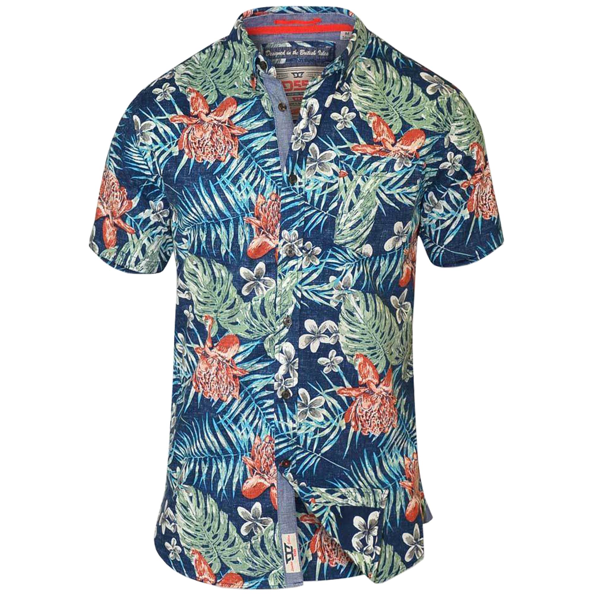 Mens-Hawaii-Shirt-D555-Duke-Short-Sleeved-Floral-