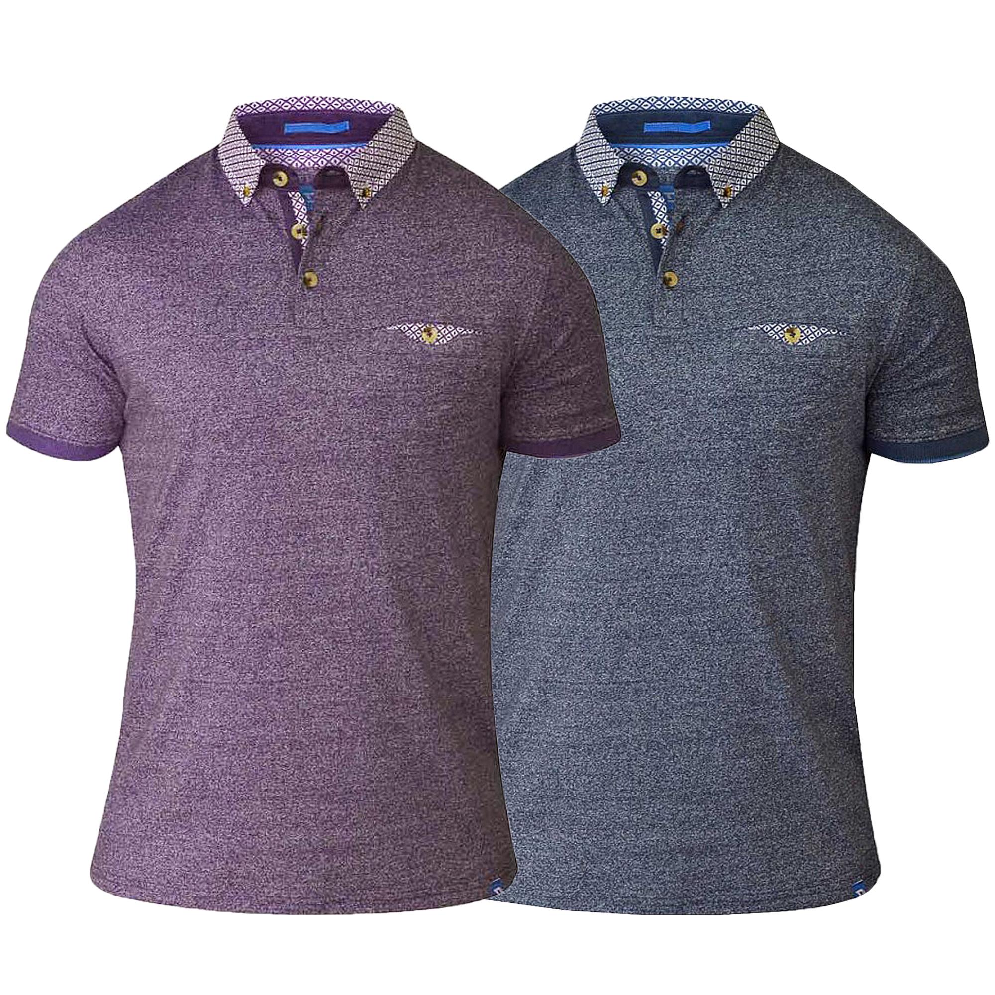 00681b87ad1 Mens Polo T Shirt D555 Duke Short Sleeved Pique Collared Big King ...