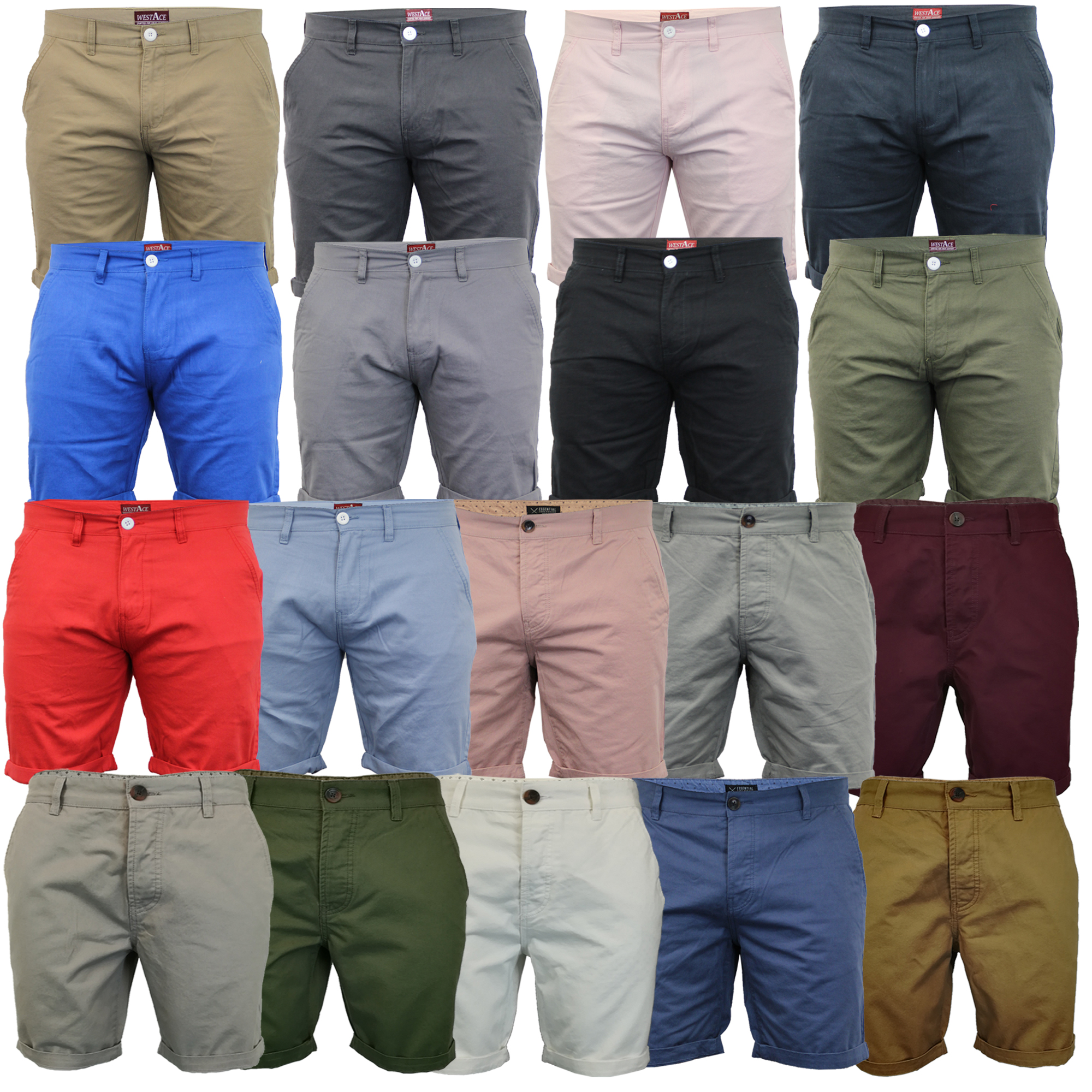 Mens-Chino-Shorts-Threadbare-Pants-Westace-Stallion-Knee-Length-Roll-Up-Summer thumbnail 4