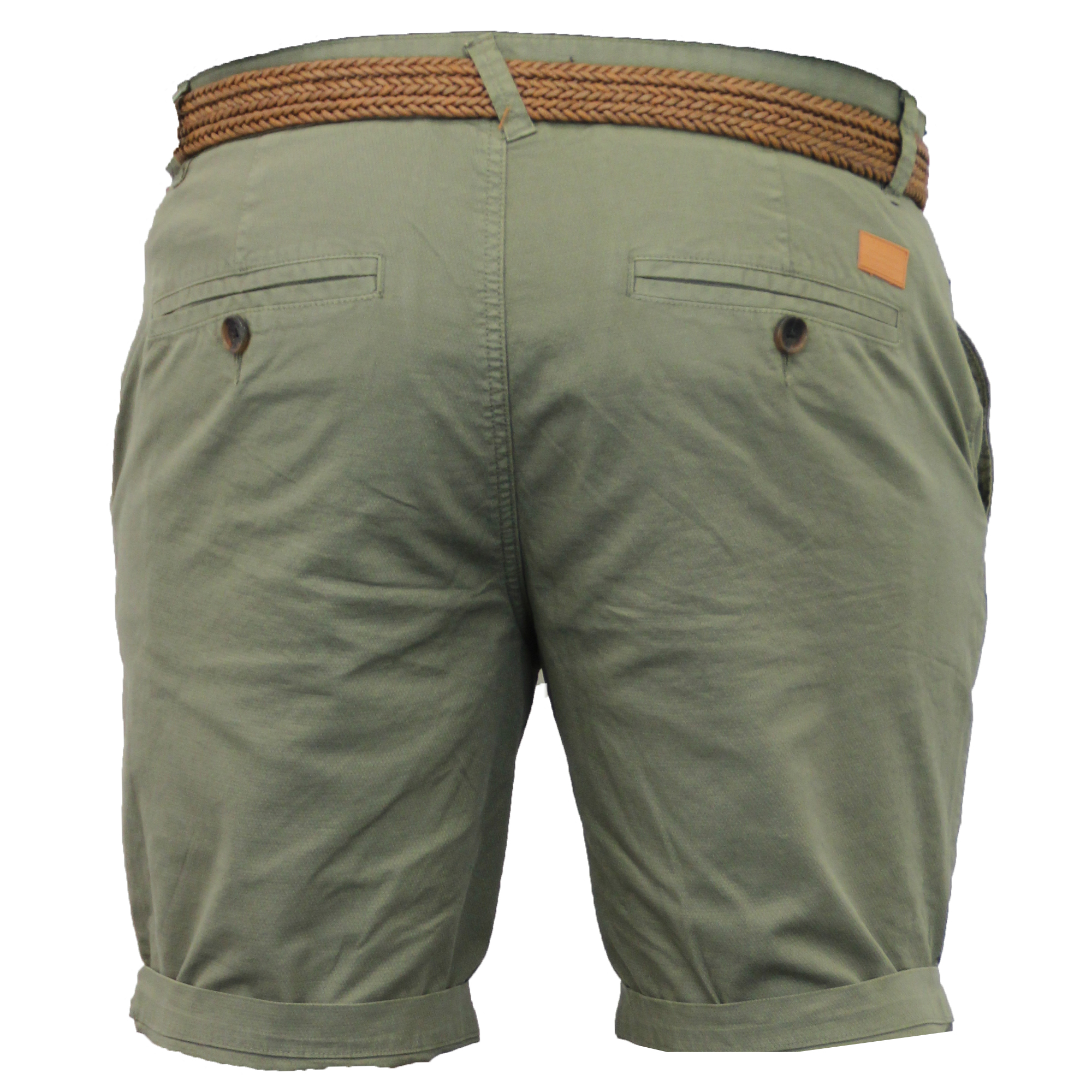 Mens-Chino-Shorts-Threadbare-Belted-Westace-Pants-Knee-Length-Roll-Up-Summer-New thumbnail 8