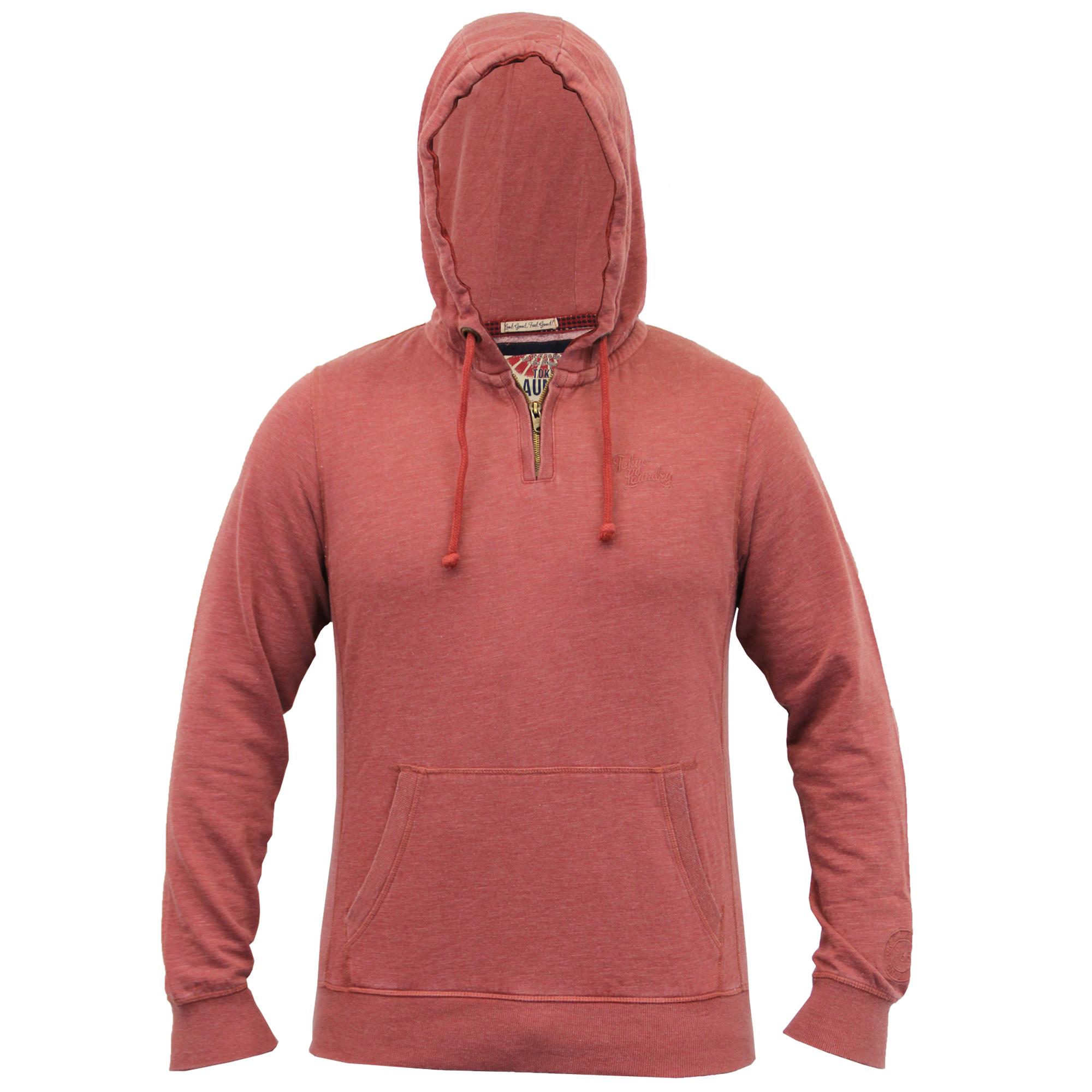 Mens-Sweatshirt-Tokyo-Laundry-Hooded-Top-Sweat-Applique-Zip-Gym-Fleece-Lined-New thumbnail 21