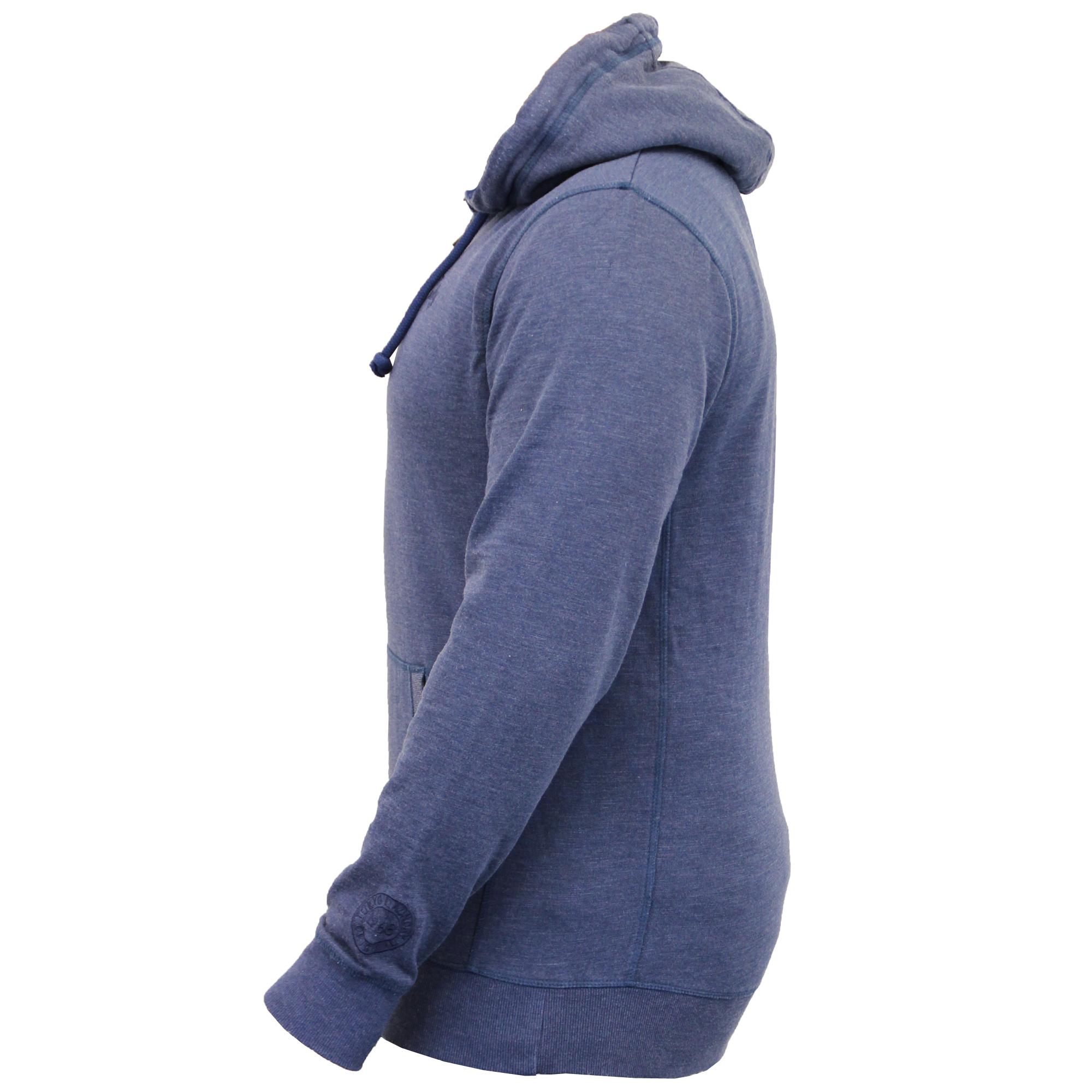 Mens-Sweatshirt-Tokyo-Laundry-Hooded-Top-Sweat-Applique-Zip-Gym-Fleece-Lined-New thumbnail 3