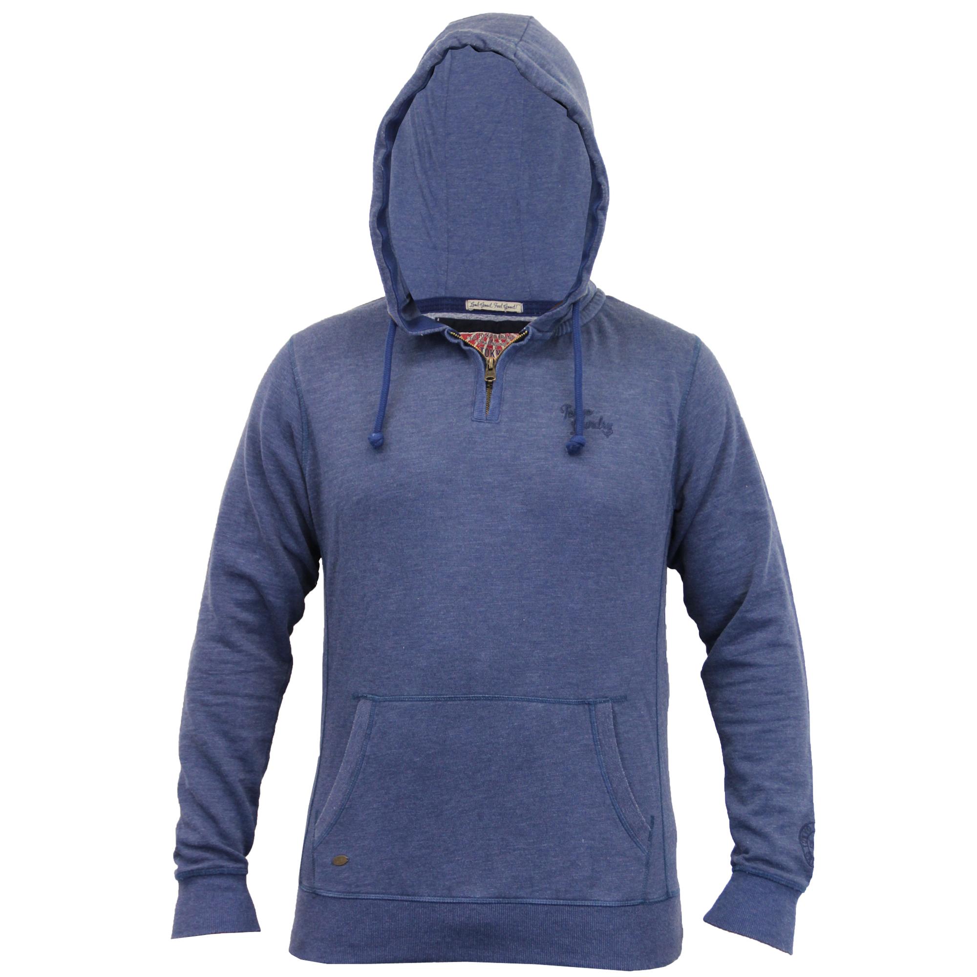Mens-Sweatshirt-Tokyo-Laundry-Hooded-Top-Sweat-Applique-Zip-Gym-Fleece-Lined-New thumbnail 4