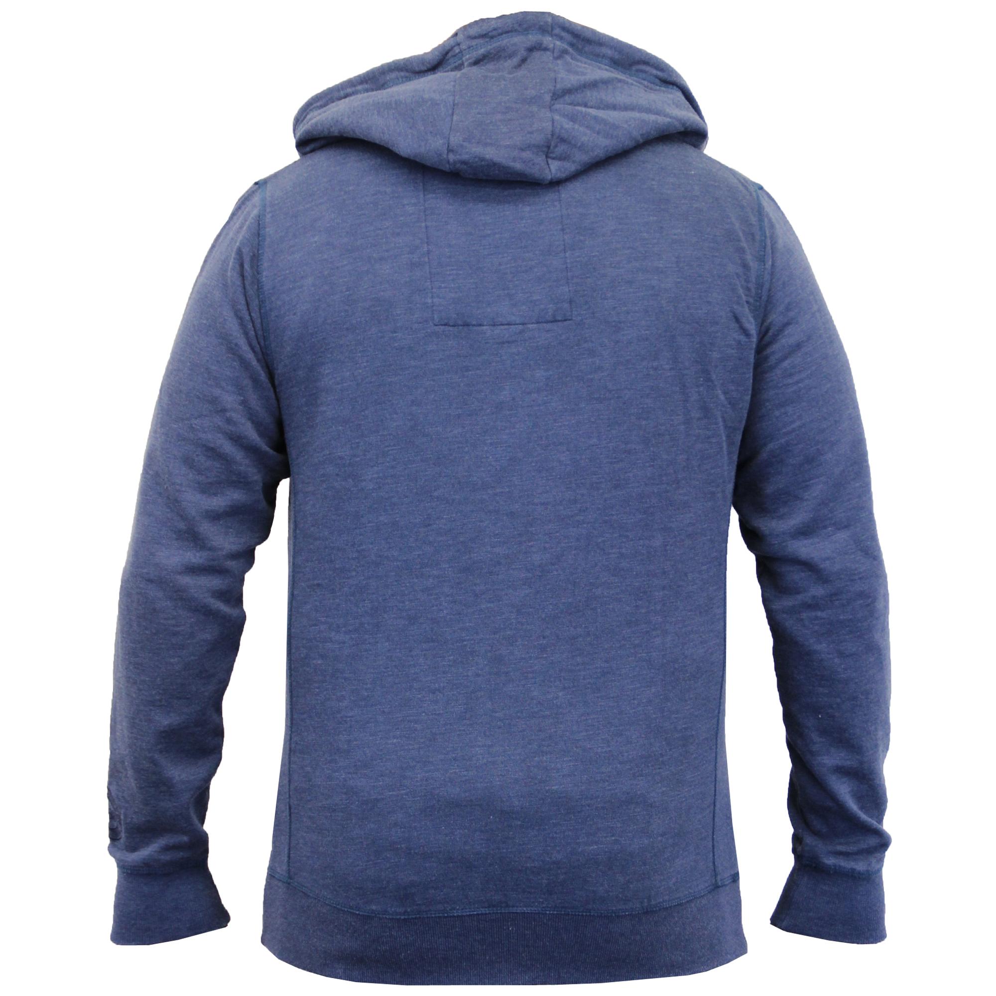 Mens-Sweatshirt-Tokyo-Laundry-Hooded-Top-Sweat-Applique-Zip-Gym-Fleece-Lined-New thumbnail 5