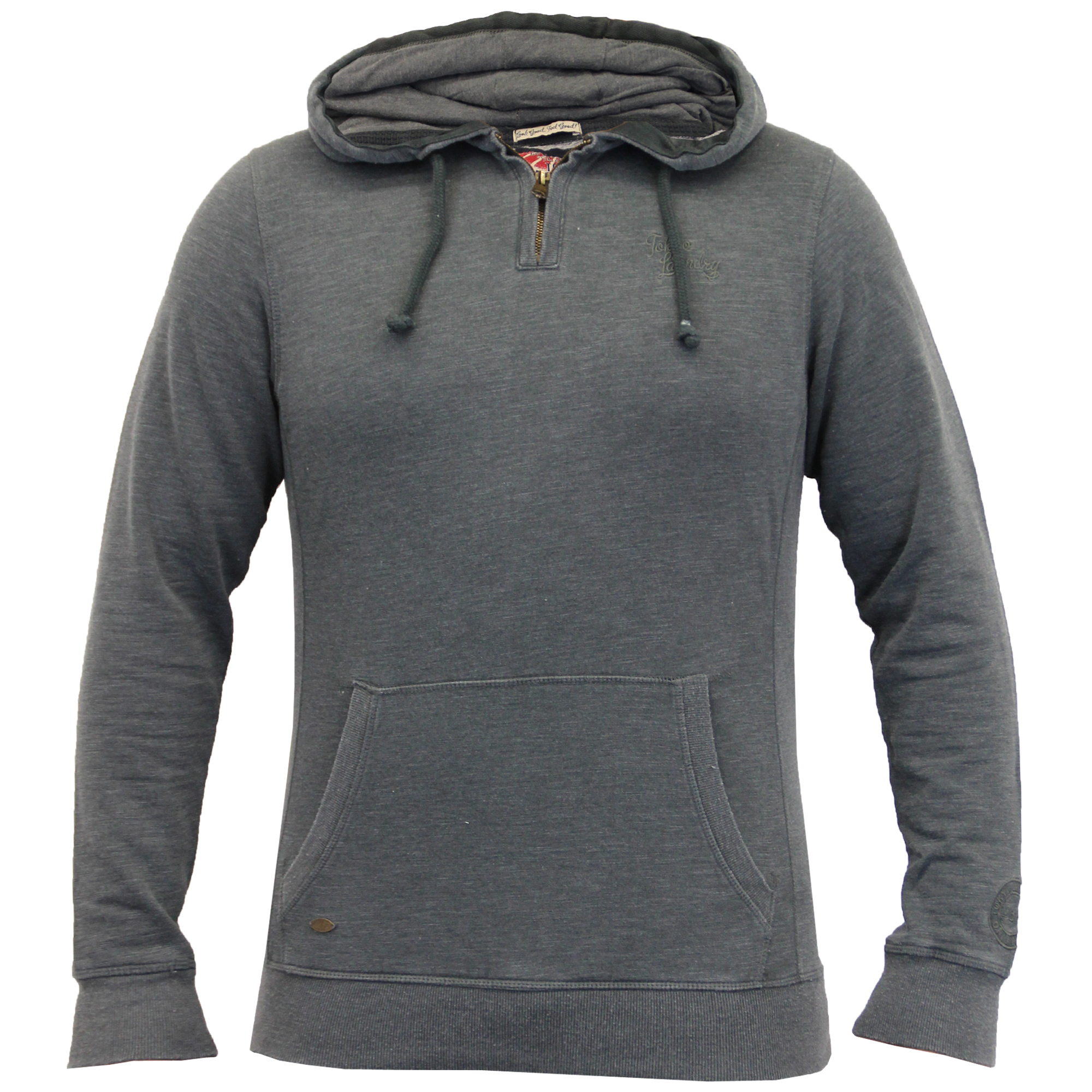 Mens-Sweatshirt-Tokyo-Laundry-Hooded-Top-Sweat-Applique-Zip-Gym-Fleece-Lined-New thumbnail 12