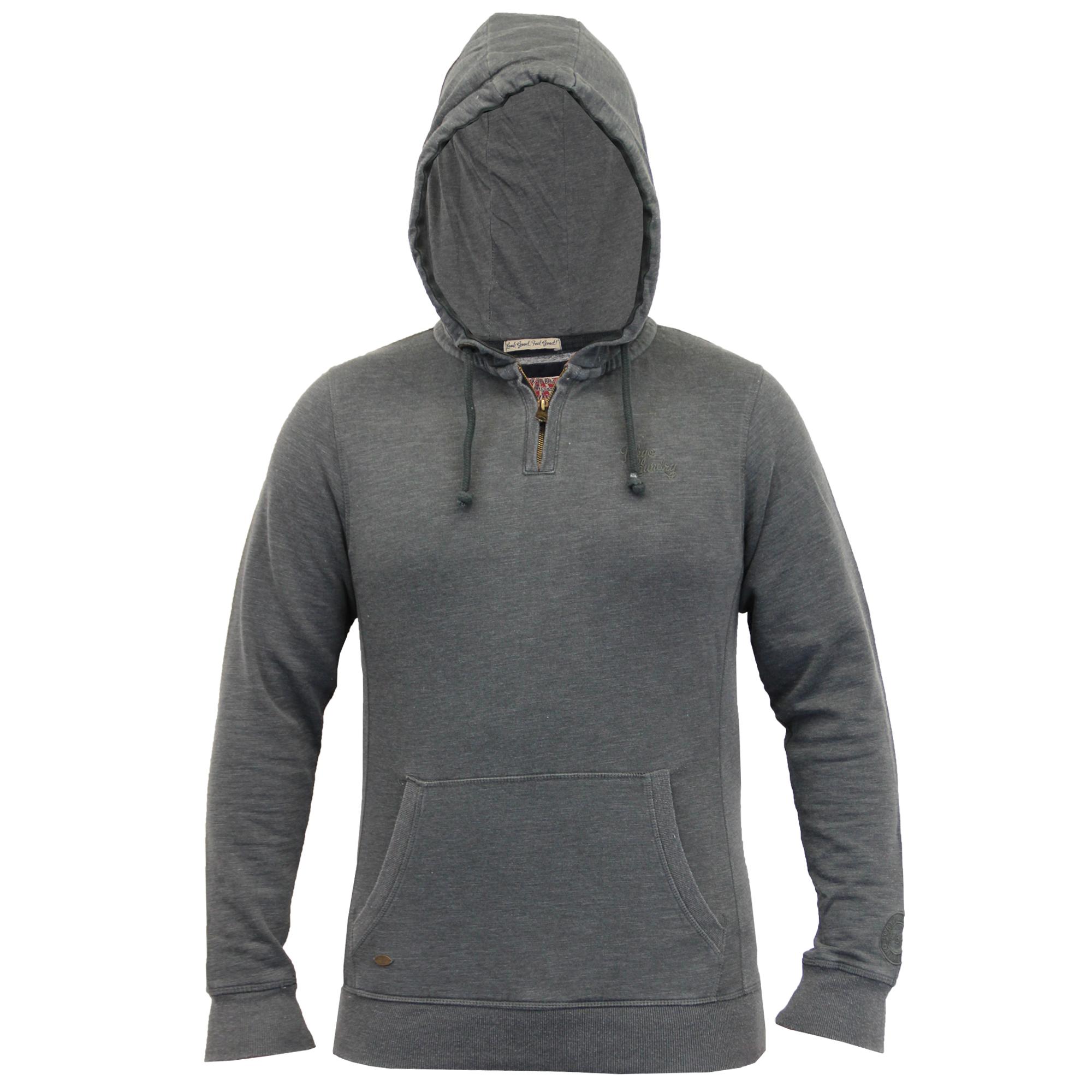 Mens-Sweatshirt-Tokyo-Laundry-Hooded-Top-Sweat-Applique-Zip-Gym-Fleece-Lined-New thumbnail 13