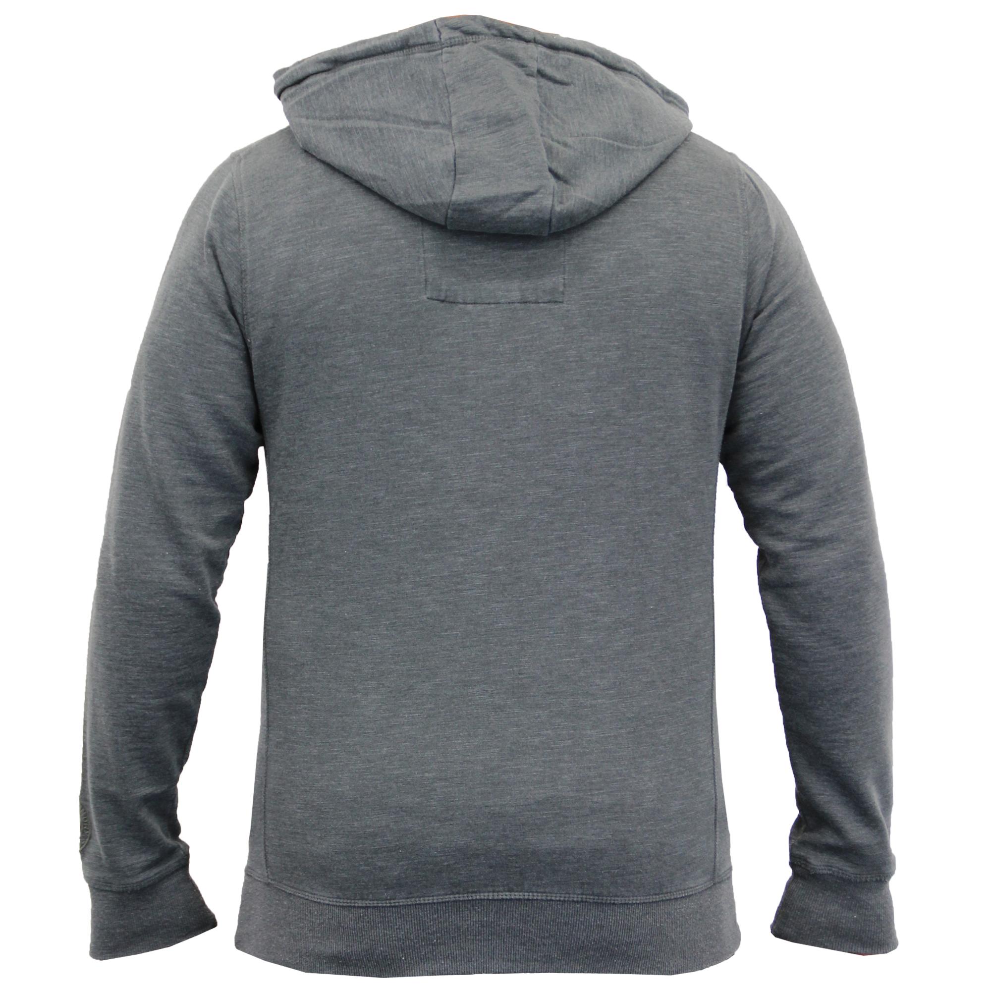 Mens-Sweatshirt-Tokyo-Laundry-Hooded-Top-Sweat-Applique-Zip-Gym-Fleece-Lined-New thumbnail 14