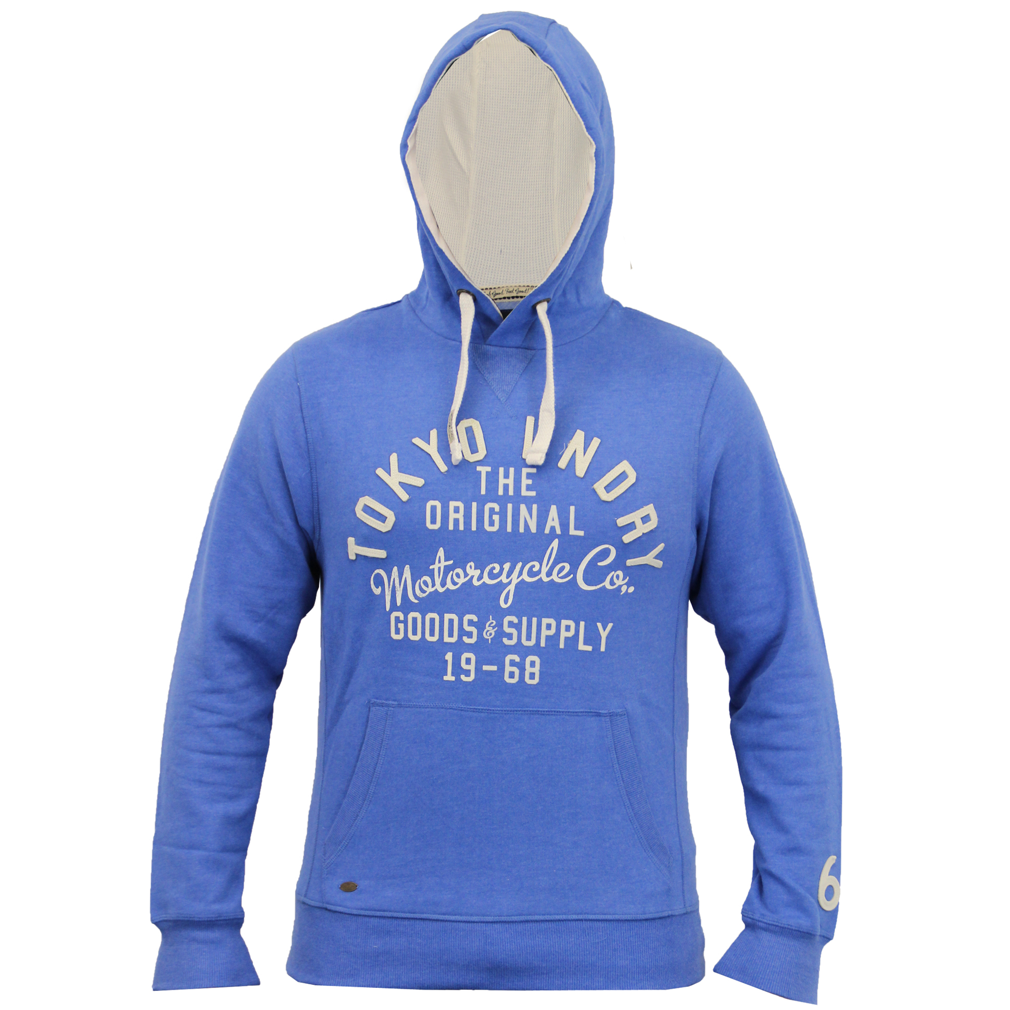 Mens-Sweatshirt-Tokyo-Laundry-Hooded-Top-Sweat-Applique-Zip-Gym-Fleece-Lined-New thumbnail 8