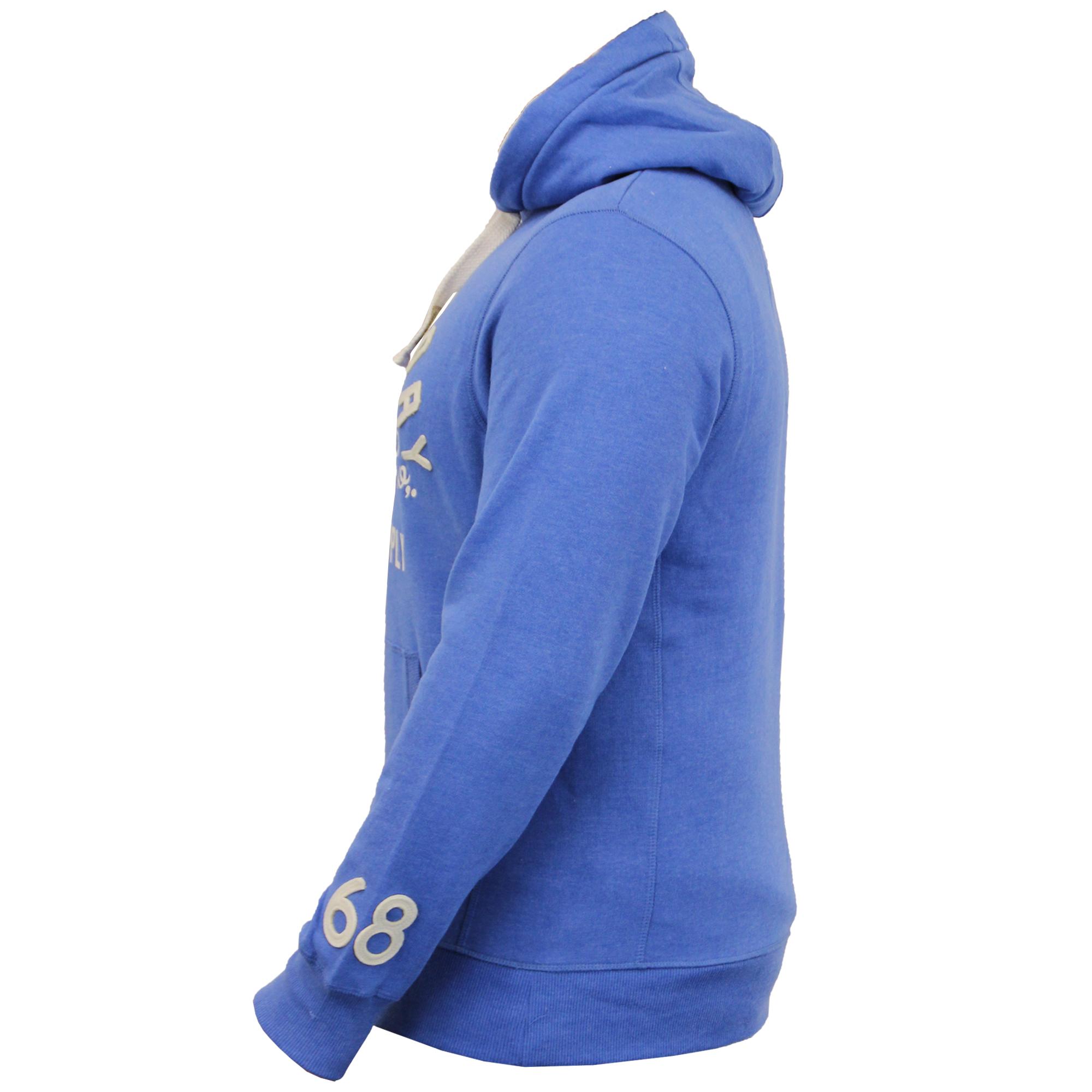 Mens-Sweatshirt-Tokyo-Laundry-Hooded-Top-Sweat-Applique-Zip-Gym-Fleece-Lined-New thumbnail 9