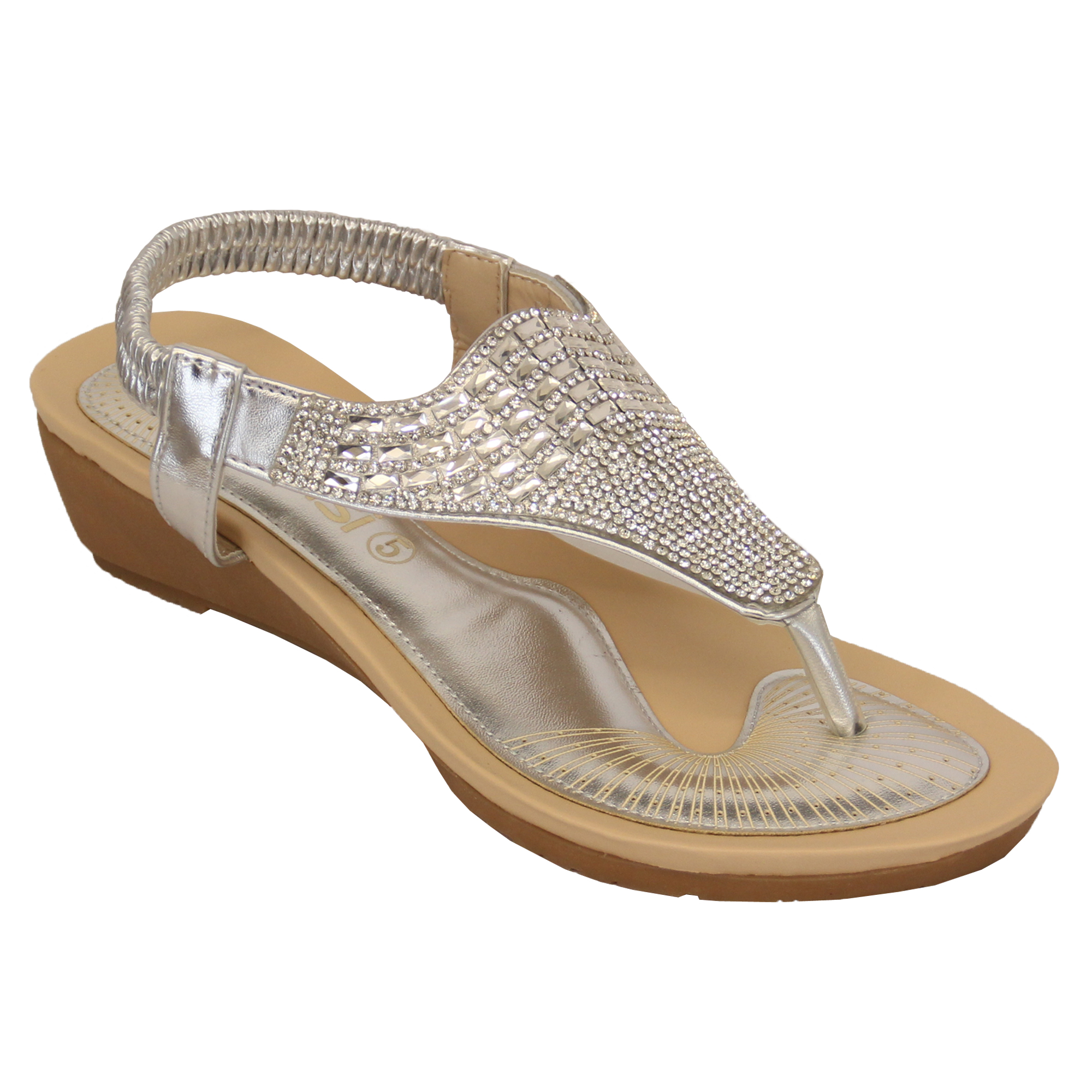 Ladies-Sandals-Kelsi-Womens-Diamante-Slip-On-Toe-Post-Shoes-Casual-Fashion-New thumbnail 24