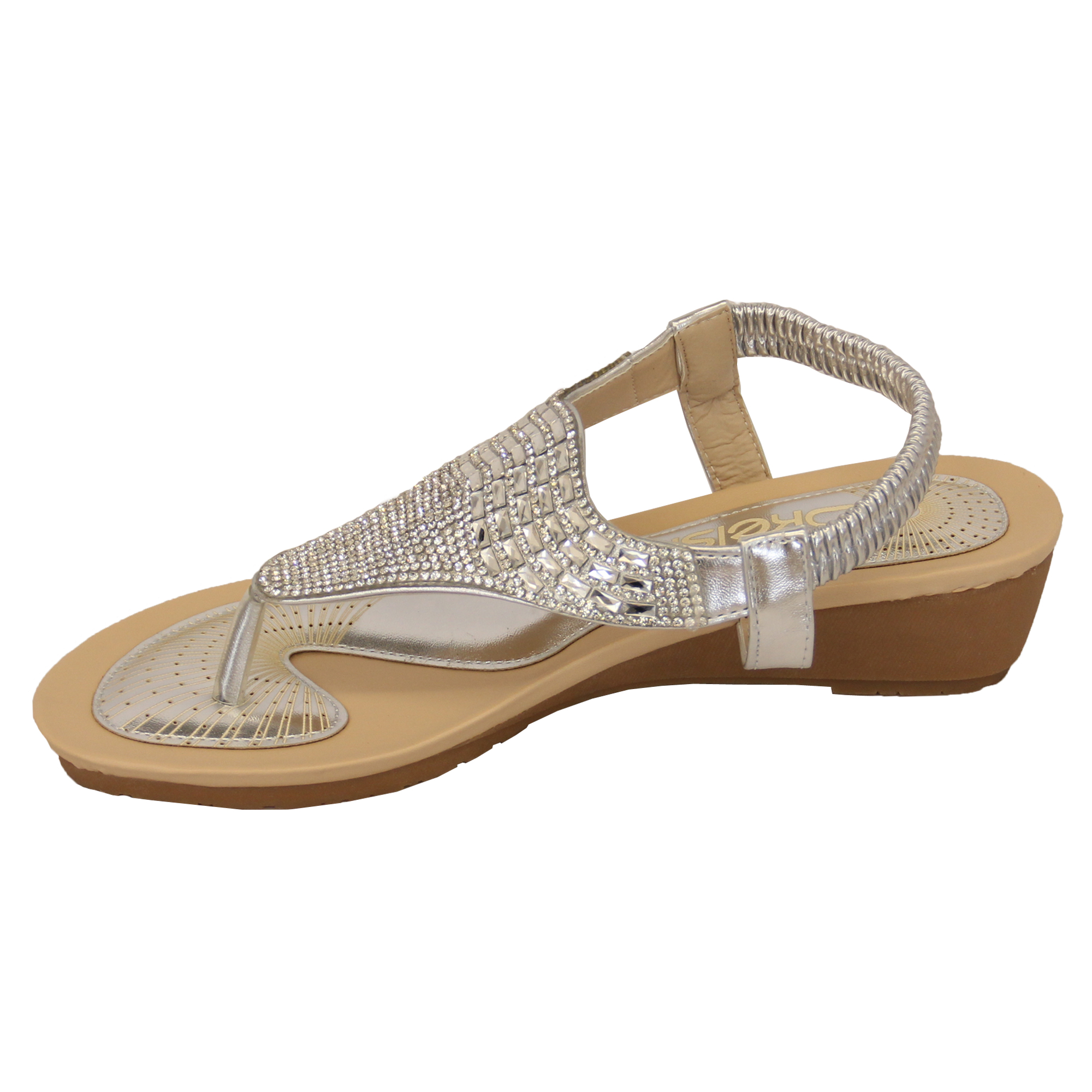 Ladies-Sandals-Kelsi-Womens-Diamante-Slip-On-Toe-Post-Shoes-Casual-Fashion-New thumbnail 25