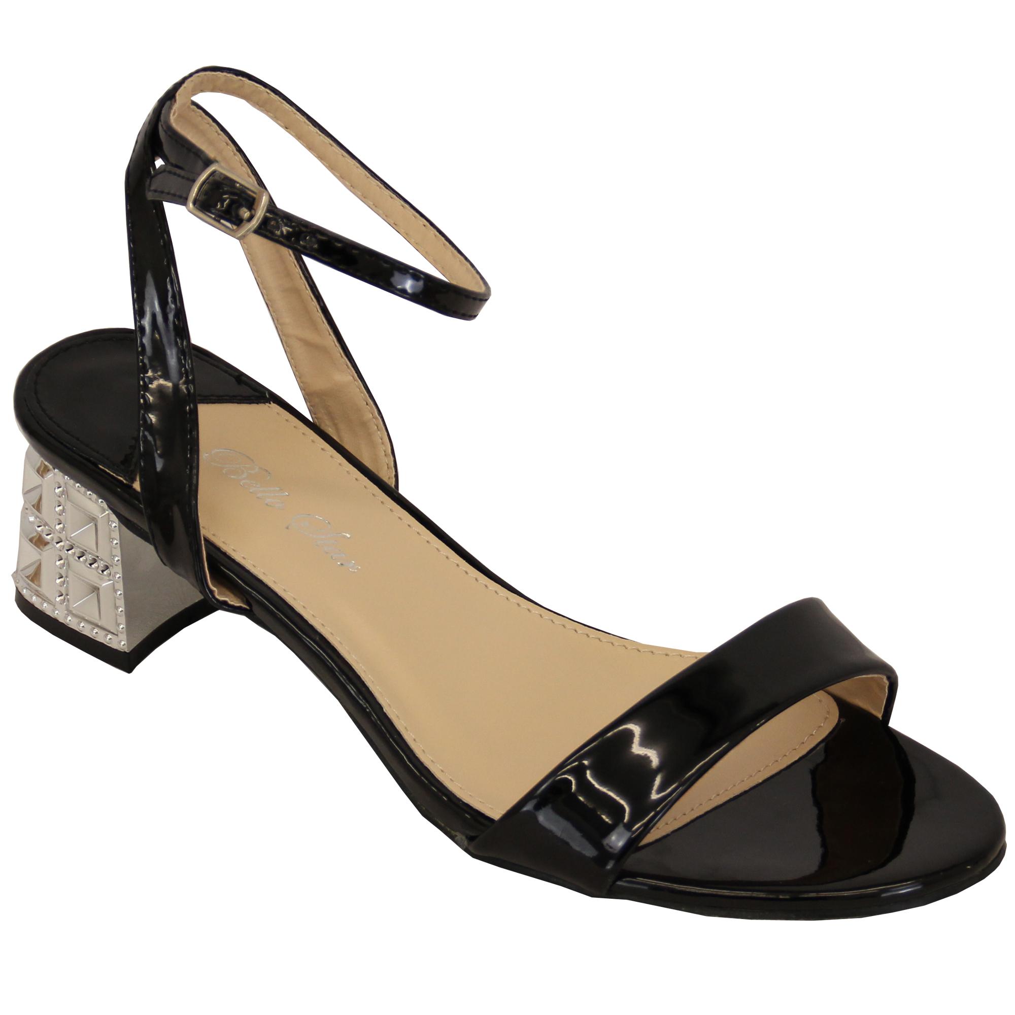damen blockabsatz sandalen damen riemchen open toe. Black Bedroom Furniture Sets. Home Design Ideas