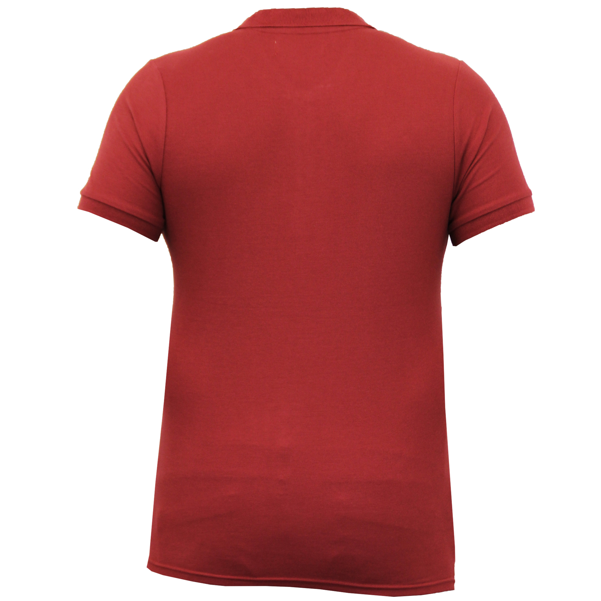 Mens-Polo-T-Shirt-Crosshatch-Pique-Top-Cotton-Short-Sleeved-Collared-Summer-New thumbnail 6