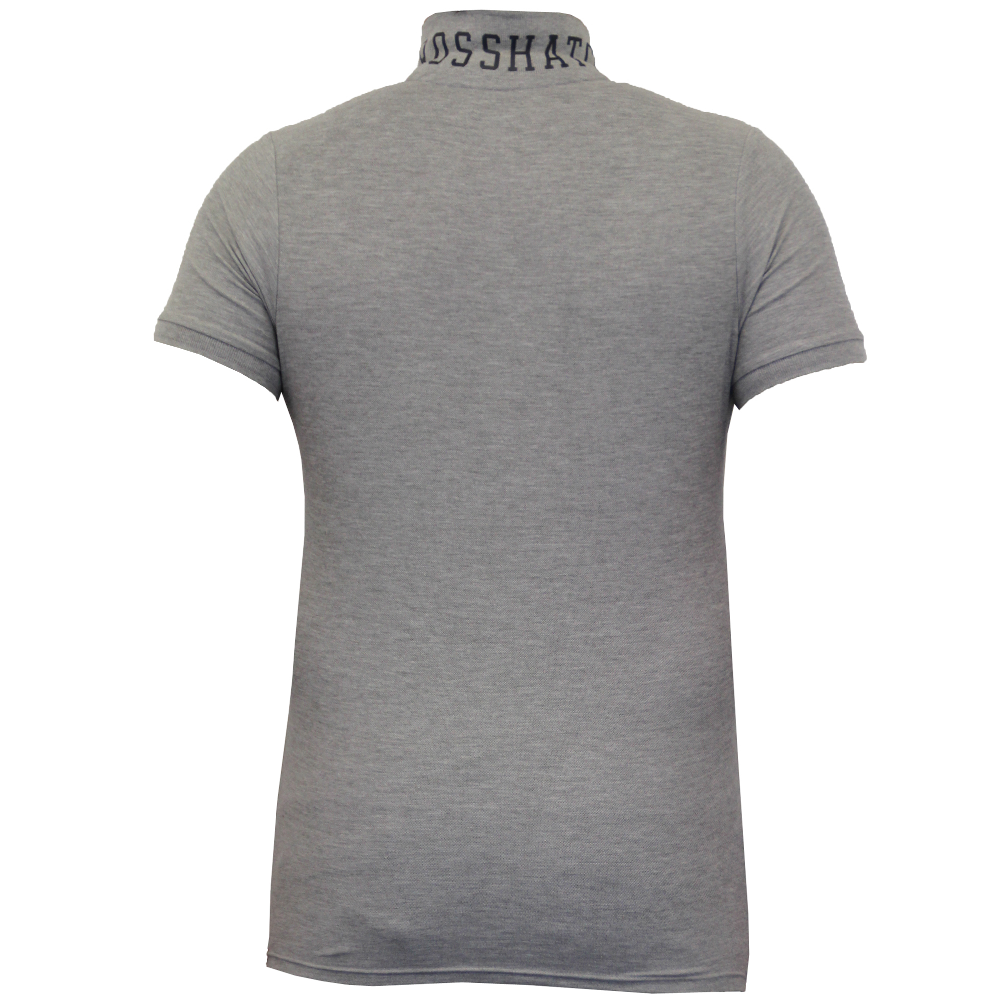 Mens-Polo-T-Shirt-Crosshatch-Pique-Top-Cotton-Short-Sleeved-Collared-Summer-New thumbnail 3