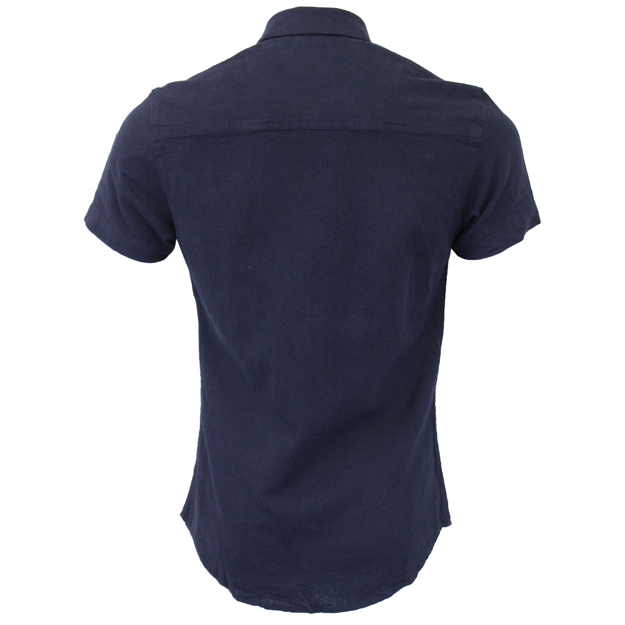 Mens-Linen-Shirt-Threadbare-Short-Sleeved-Brave-Soul-Collared-Casual-Summer-New thumbnail 17