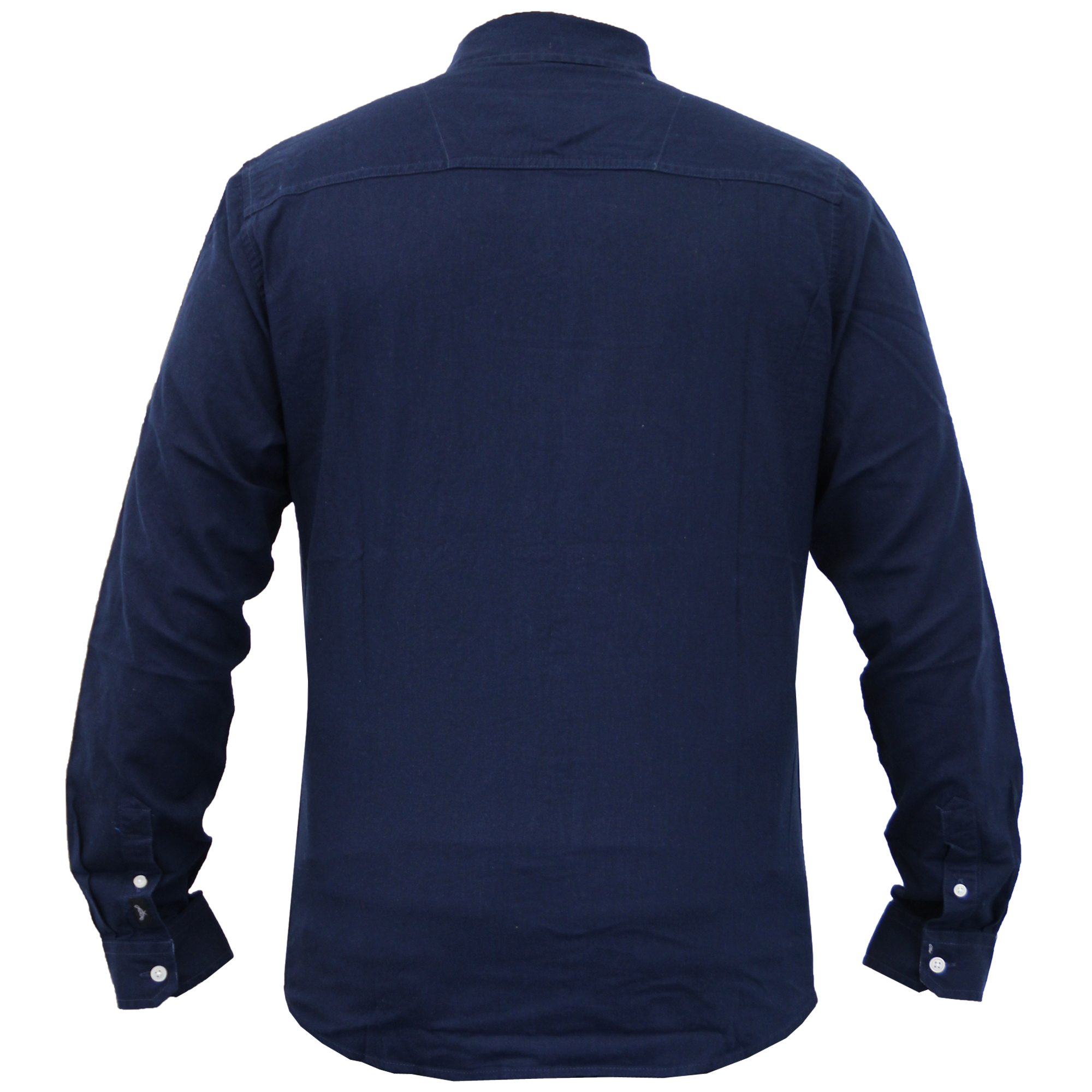 Para-hombres-camisa-de-manga-larga-con-cuello-desgastado-Lino-formales-de-trabajo-informal-de-verano miniatura 6