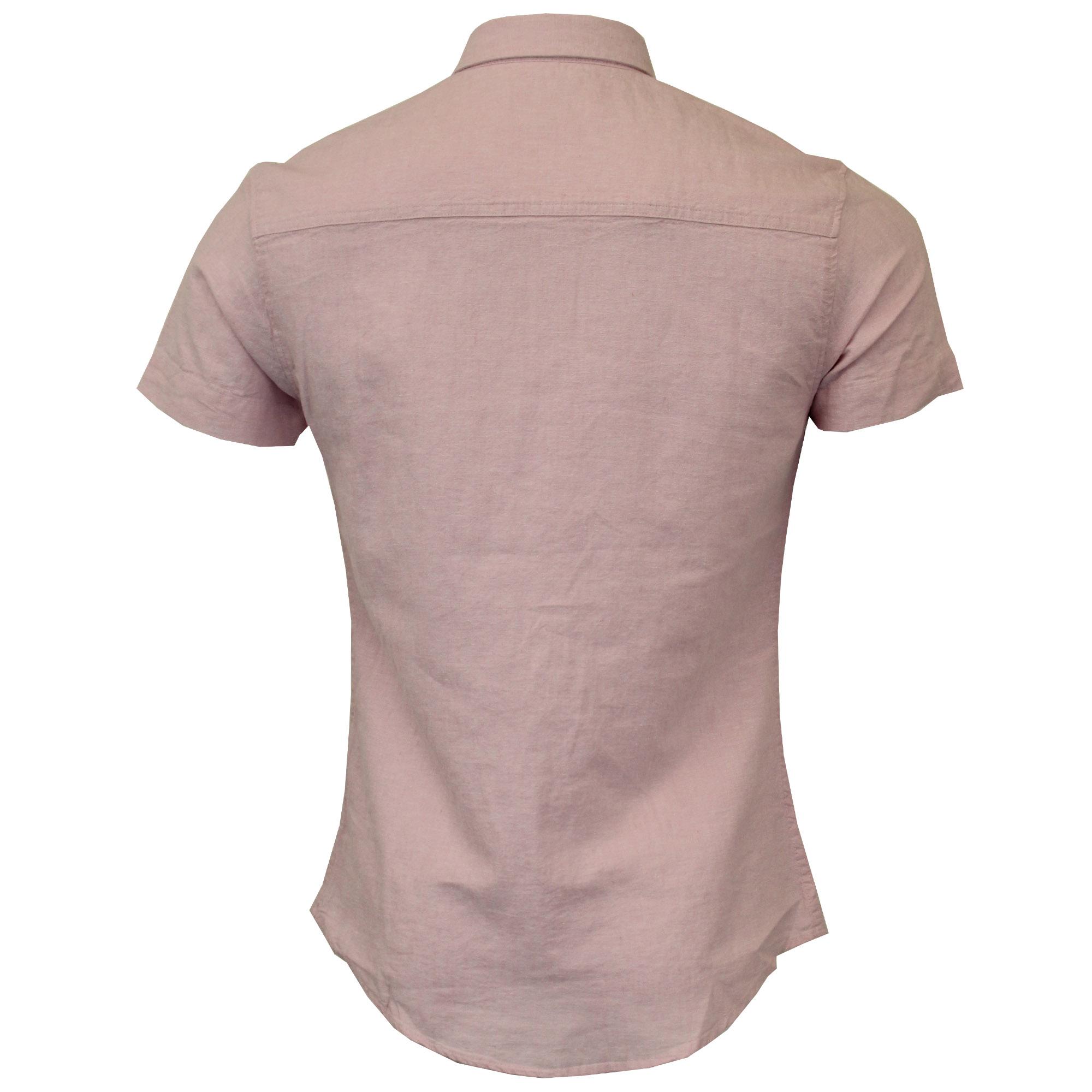 Mens-Linen-Shirt-Threadbare-Short-Sleeved-Brave-Soul-Collared-Casual-Summer-New thumbnail 20