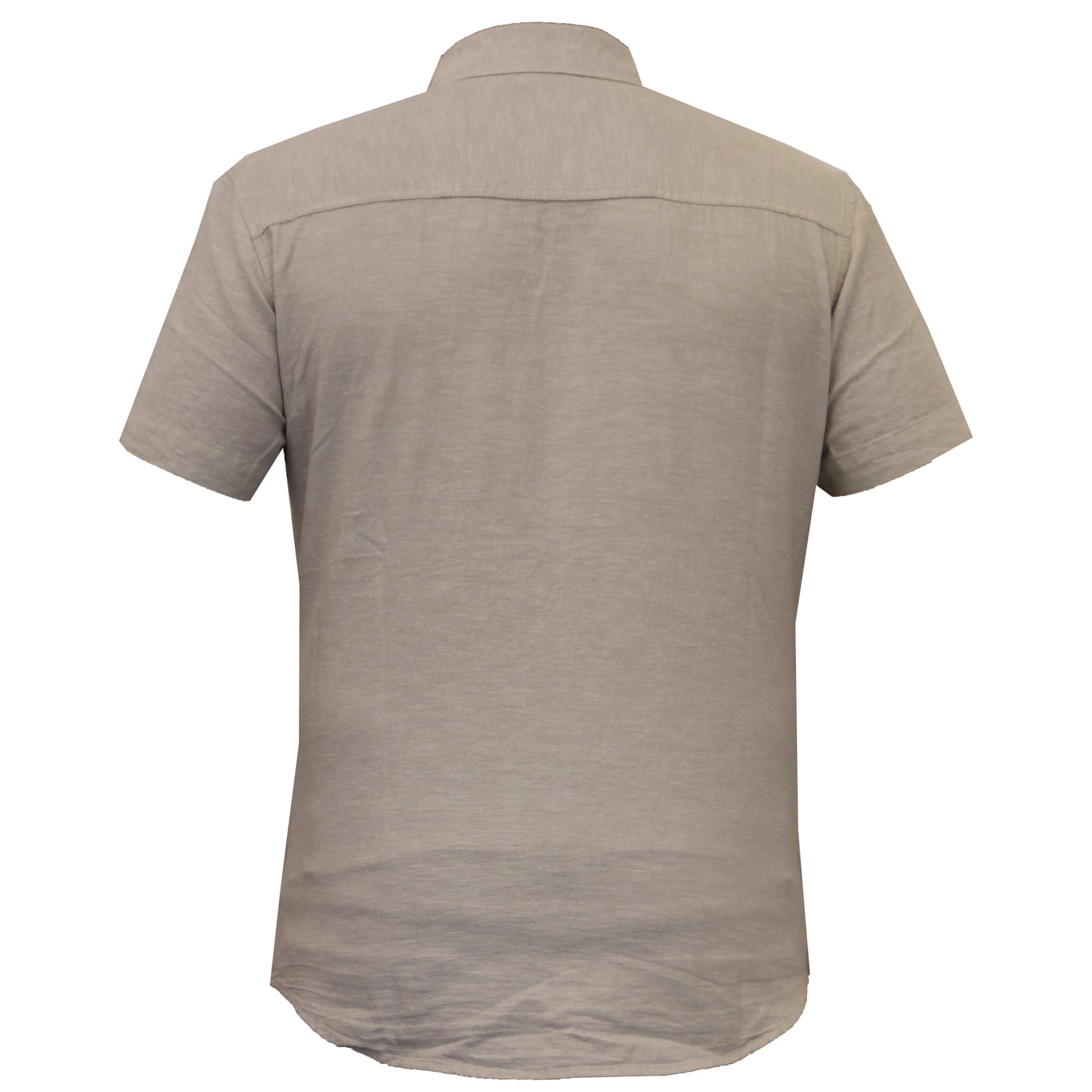 Mens-Linen-Shirt-Threadbare-Short-Sleeved-Brave-Soul-Collared-Casual-Summer-New thumbnail 23