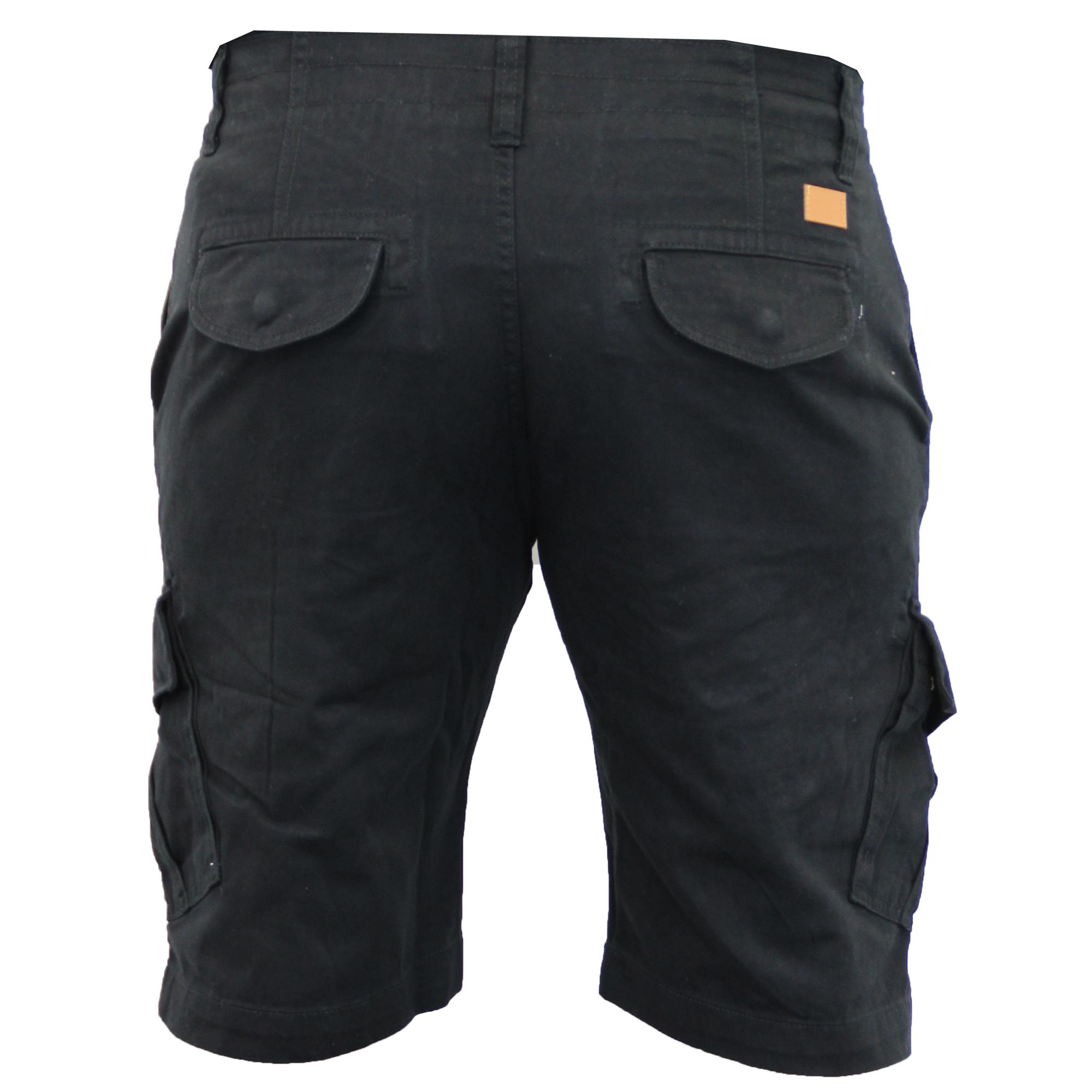 Mens-Cargo-Chino-Shorts-Threadbare-Combat-Knee-Length-Westace-Military-Summer thumbnail 5