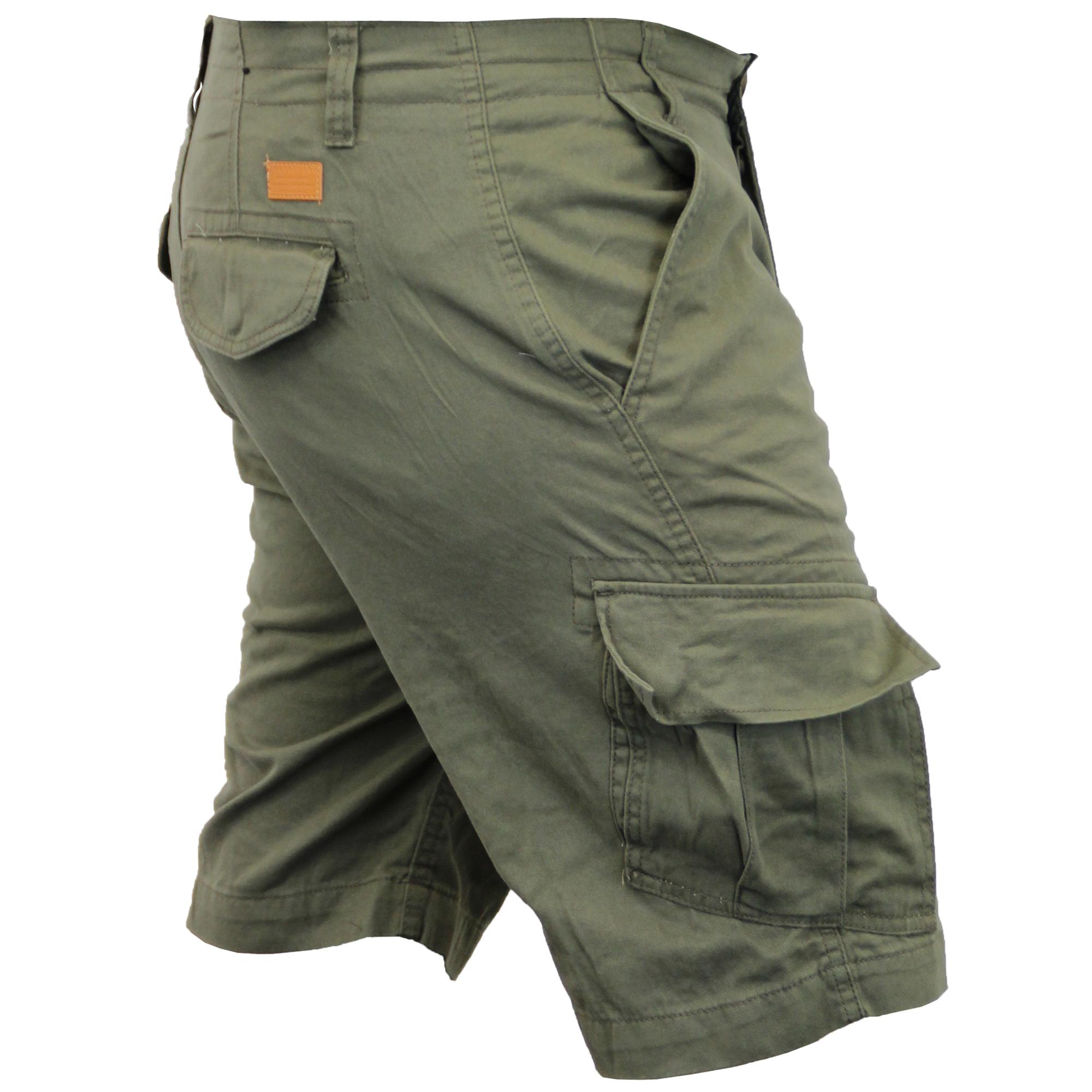 Mens-Cargo-Chino-Shorts-Threadbare-Combat-Knee-Length-Westace-Military-Summer thumbnail 17