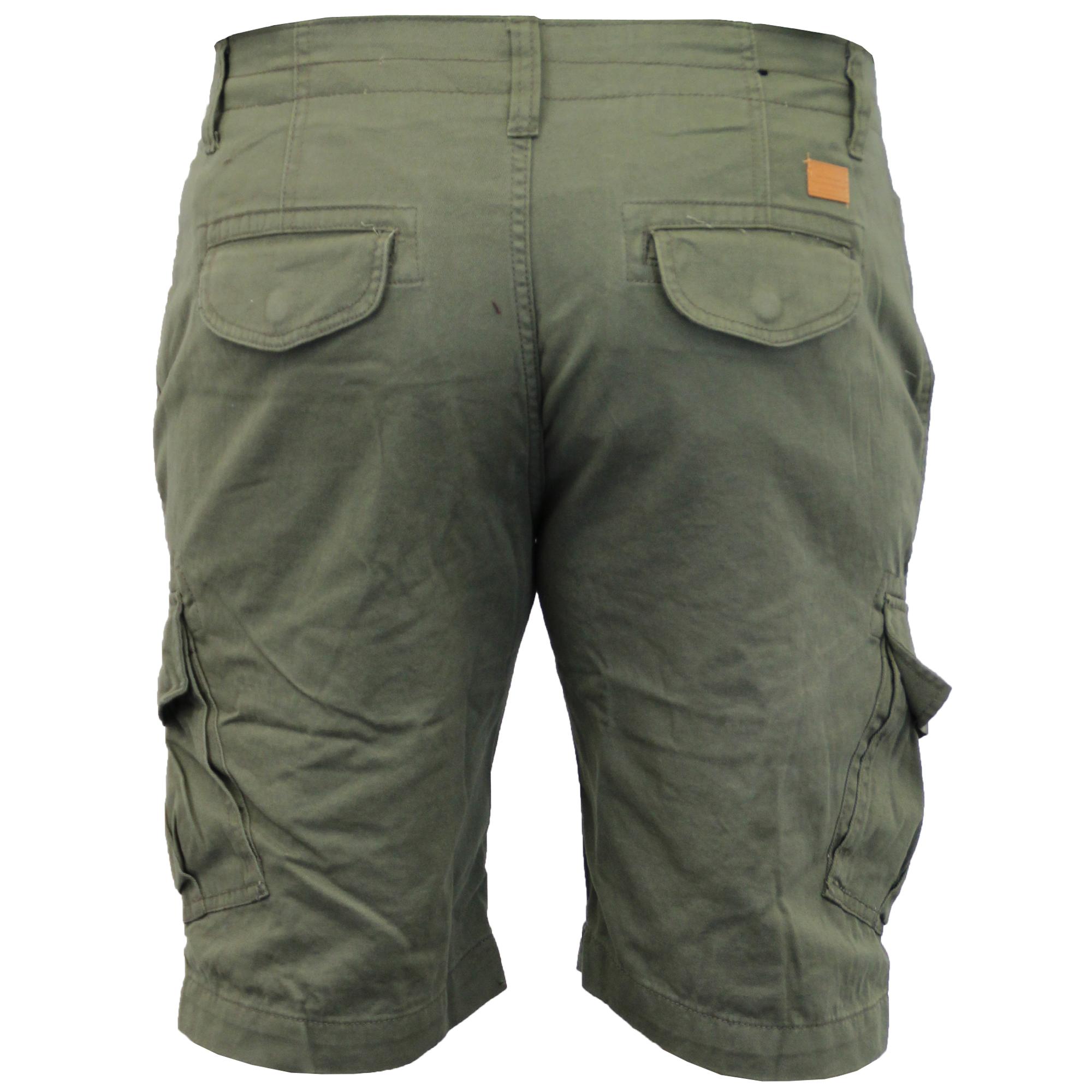 Mens-Cargo-Chino-Shorts-Threadbare-Combat-Knee-Length-Westace-Military-Summer thumbnail 19