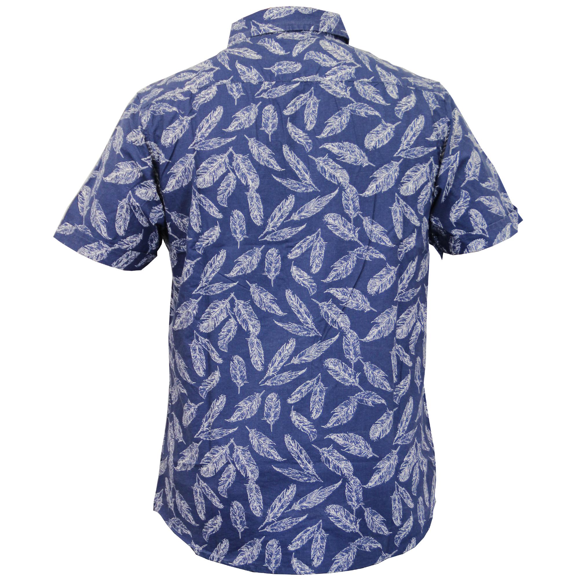 Camisa estampada de hombre, de manga corta, con gaviotas.