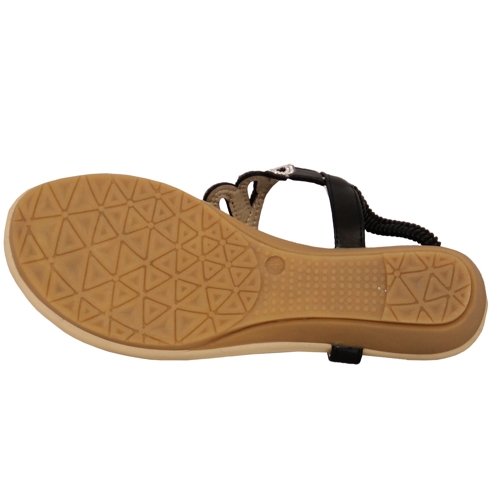 Ladies-Sandals-Kelsi-Womens-Diamante-Slip-On-Toe-Post-Shoes-Casual-Fashion-New thumbnail 12