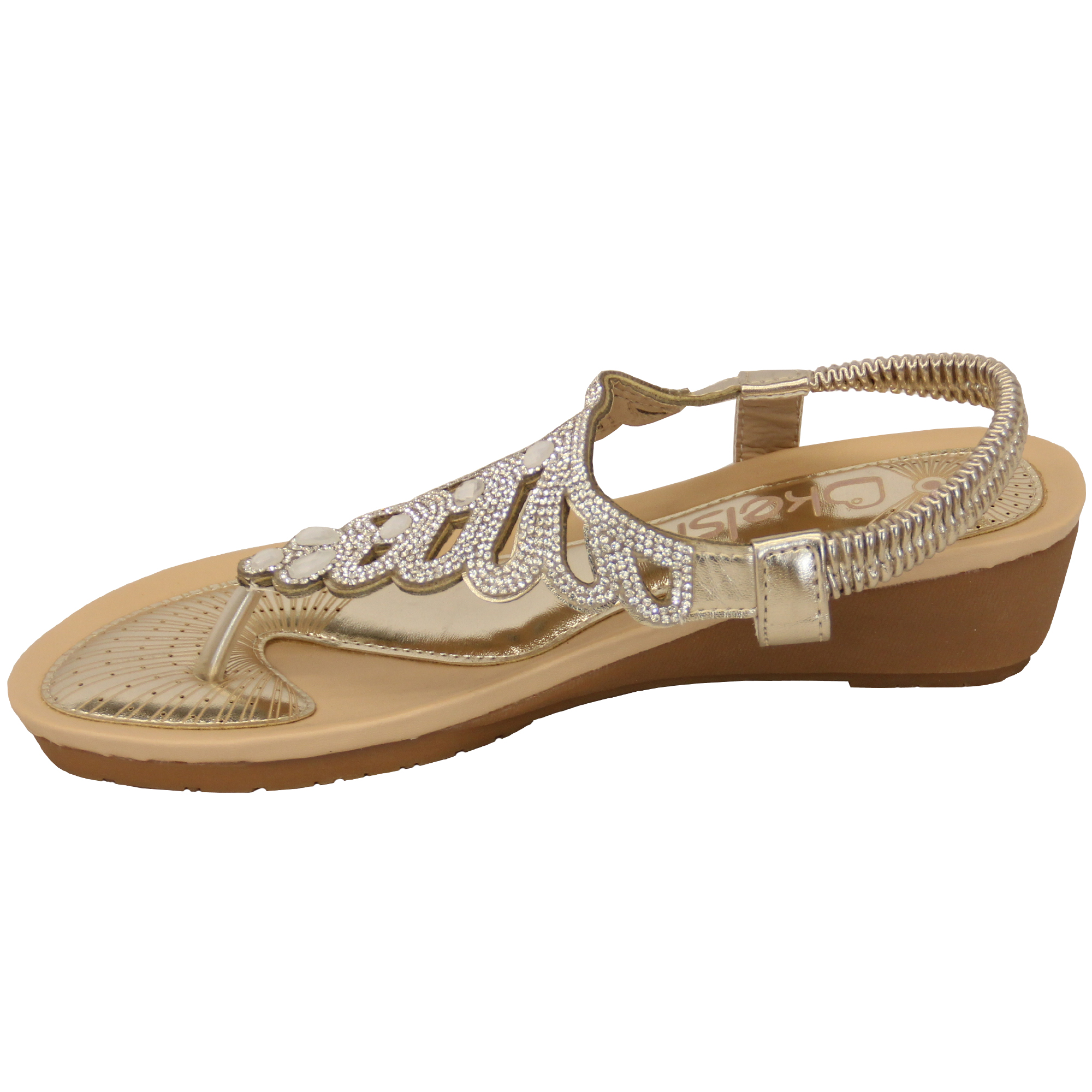 Ladies-Sandals-Kelsi-Womens-Diamante-Slip-On-Toe-Post-Shoes-Casual-Fashion-New thumbnail 18