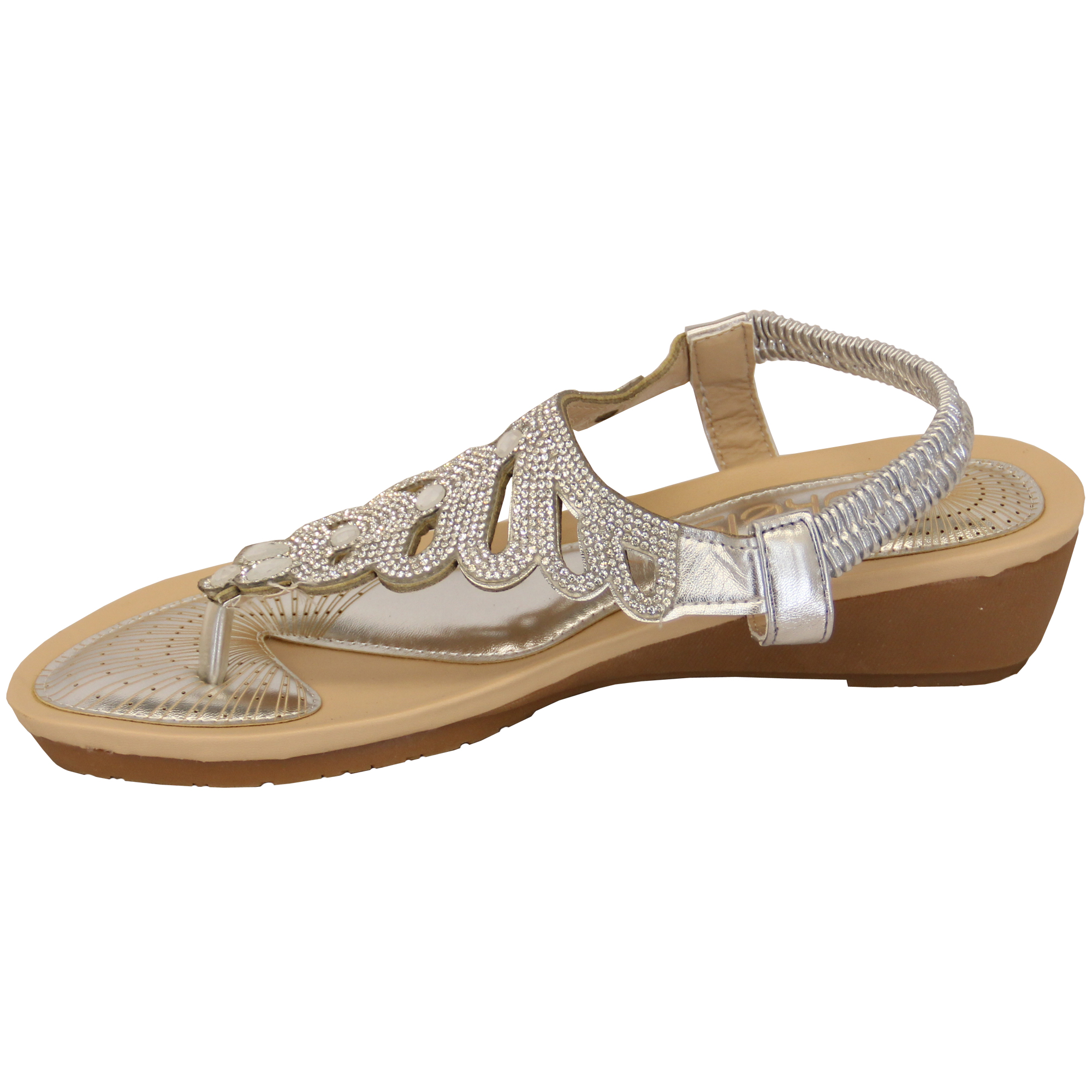 Ladies-Sandals-Kelsi-Womens-Diamante-Slip-On-Toe-Post-Shoes-Casual-Fashion-New thumbnail 29