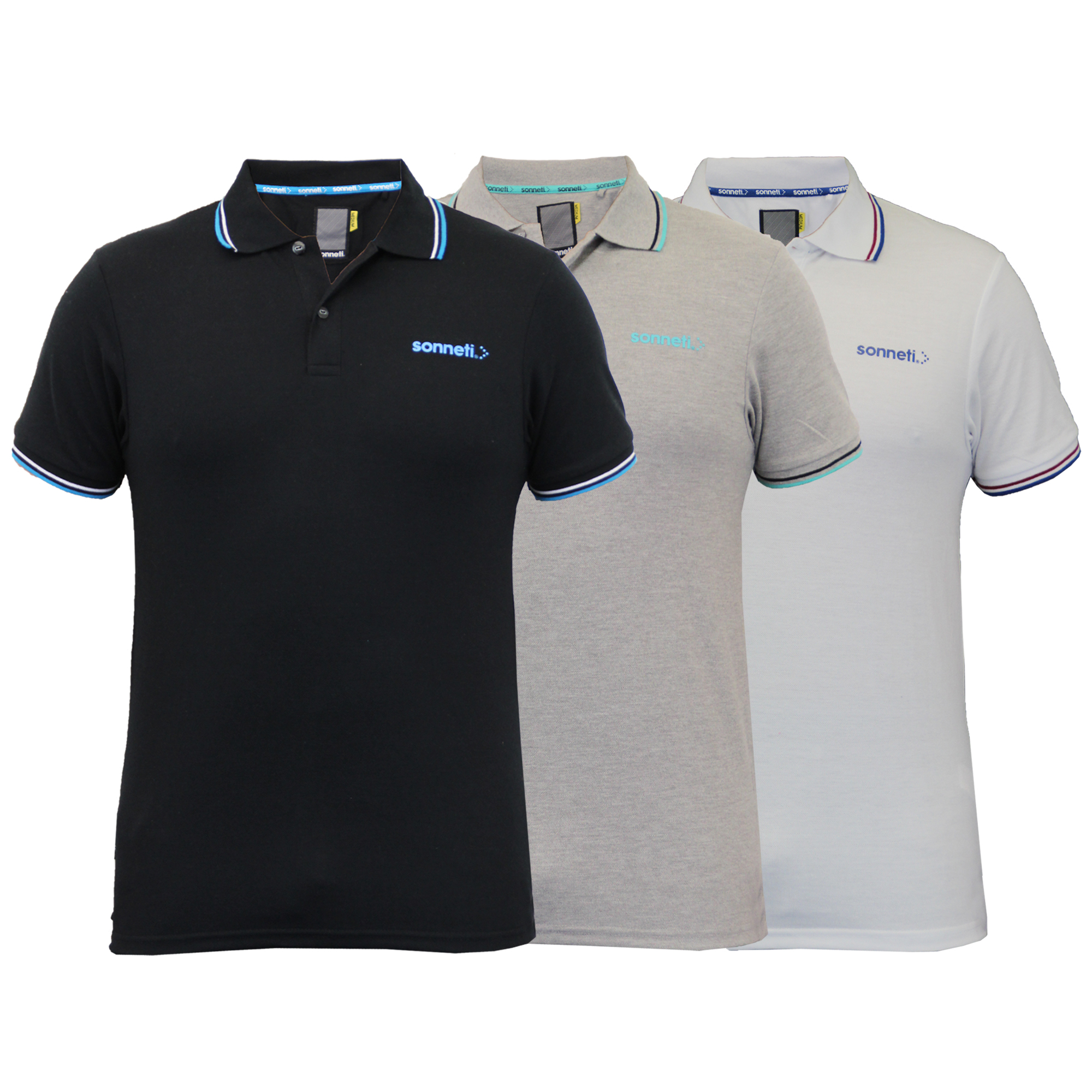 Mens-Polo-T-Shirts-Sonneti-Pique-Top-Short-Sleeved-Collared-Casual-Summer-New thumbnail 4