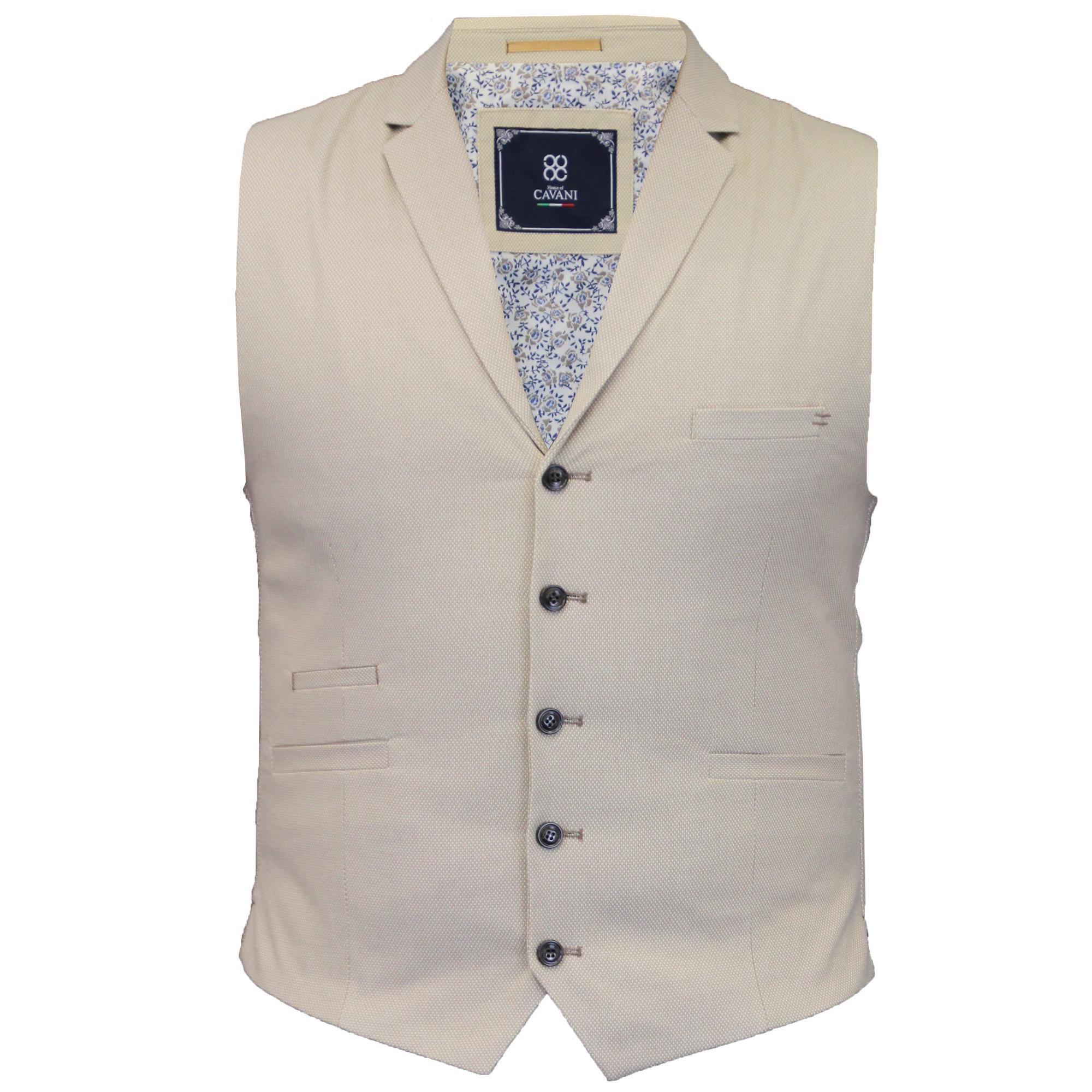 Mens-Waistcoat-Wool-Mix-Cavani-Formal-Vest-Herringbone-Tweed-Check-Party-Smart thumbnail 36