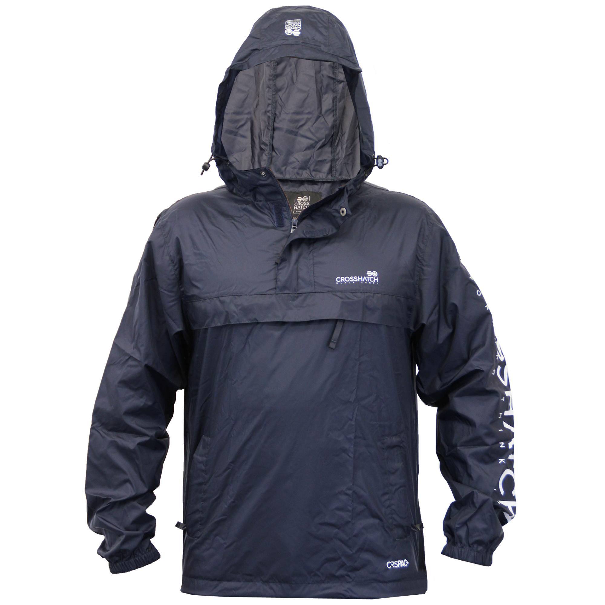 4565fe4239 Mens Kagool Jacket Crosshatch Cagoule Hooded Waterproof Bag Sack ...