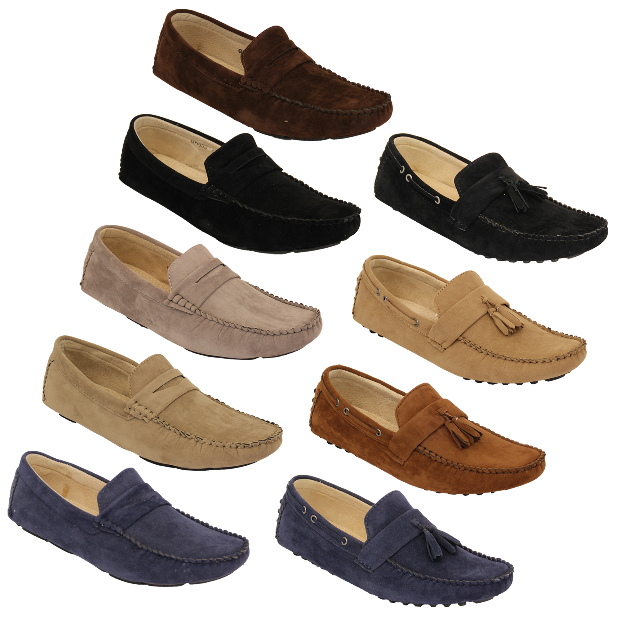 Mens-Moccasins-Suede-Leather-Look-Shoes-Boat-Slip-On-Tassel-Loafers-Smart-Formal thumbnail 5